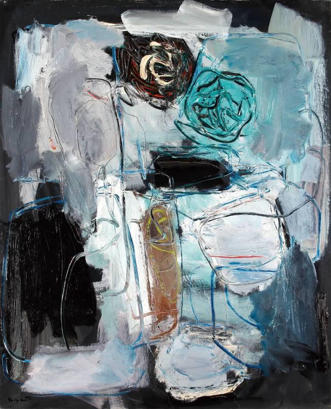 李伯元_無題_100X81cm油畫畫布1992巴黎