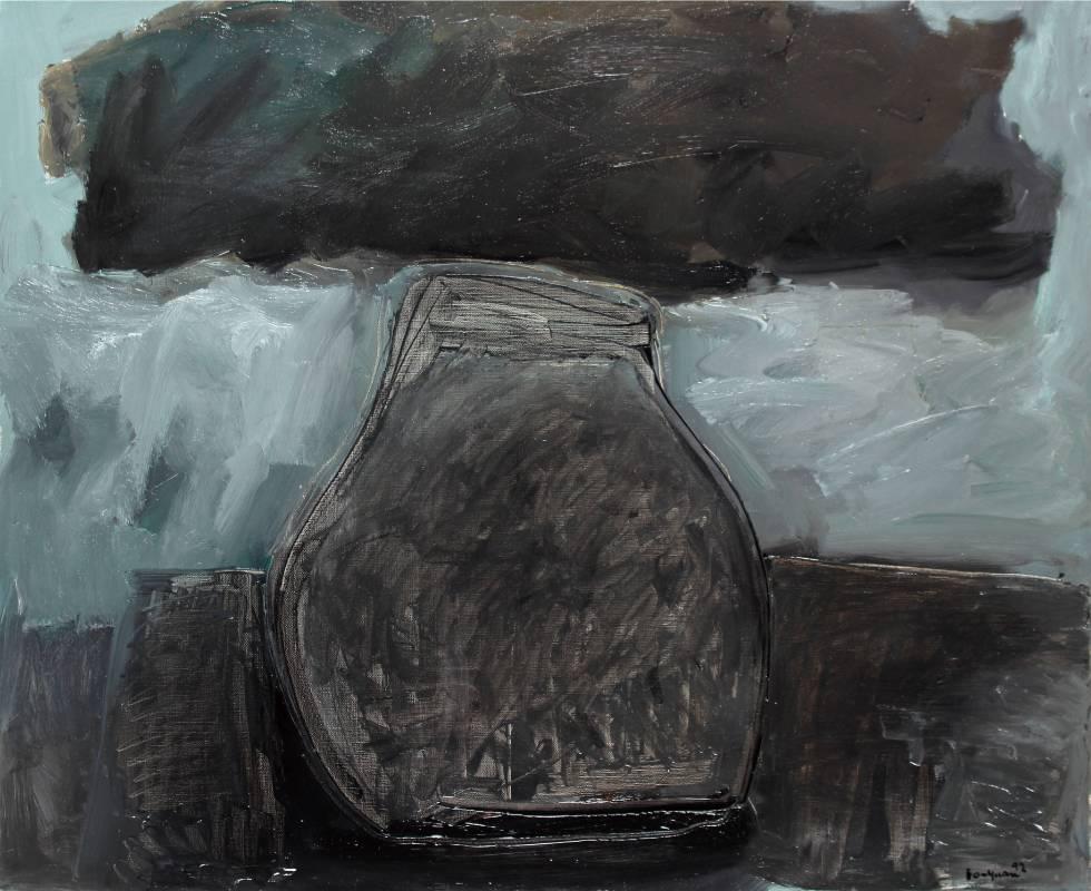 李伯元_靜物_100X81cm油畫畫布1992巴黎_