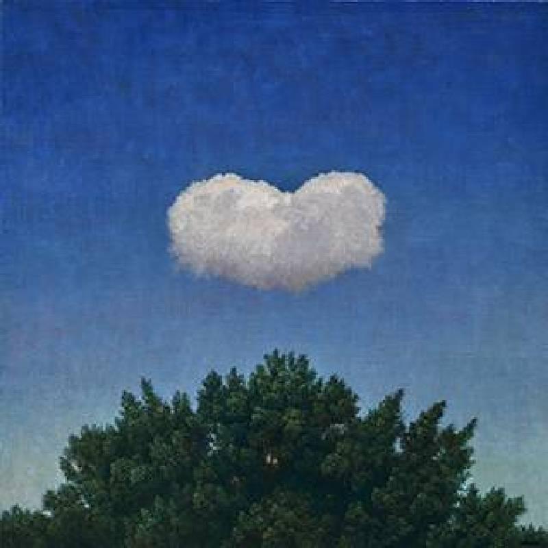 葉子奇_2005仲夏的雲與樹.紐約_卵彩.油畫.亞麻布_50.8x50.8 cm_20×20英吋_2019