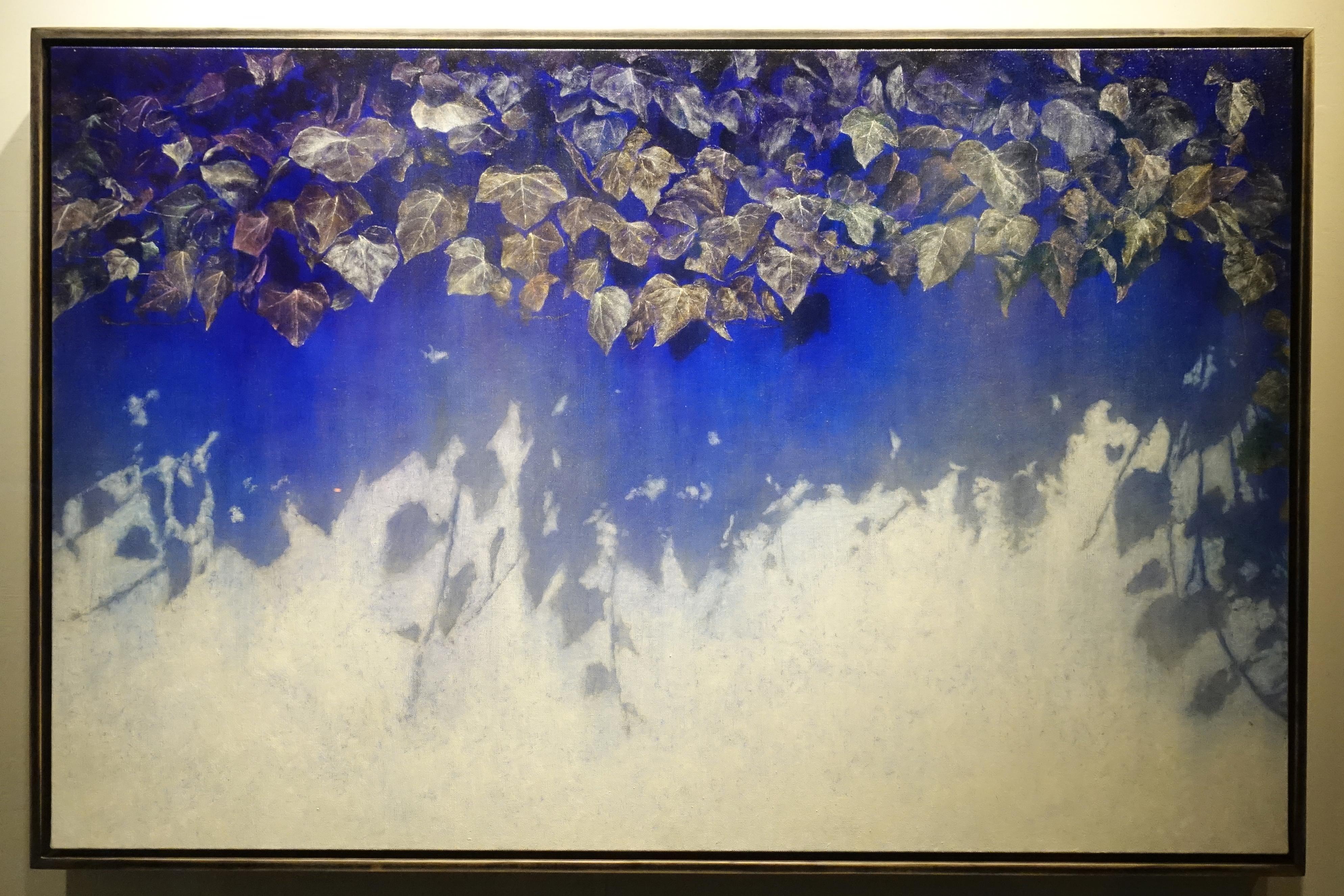 劉韋岑,《藤-虹》,100x65cm,油彩、畫布,2019。