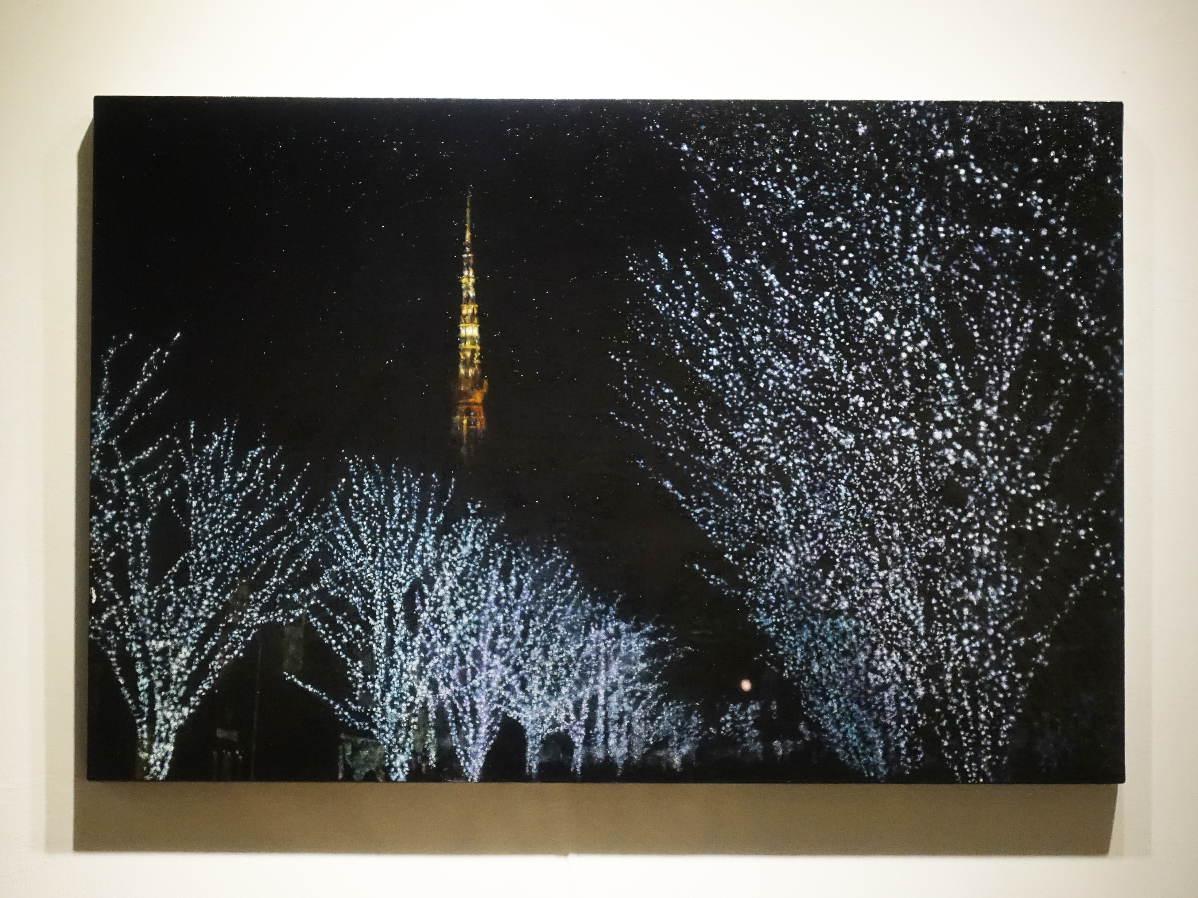 劉韋岑,《冬至-鐵塔》,80x53cm,油彩、畫布,2017。