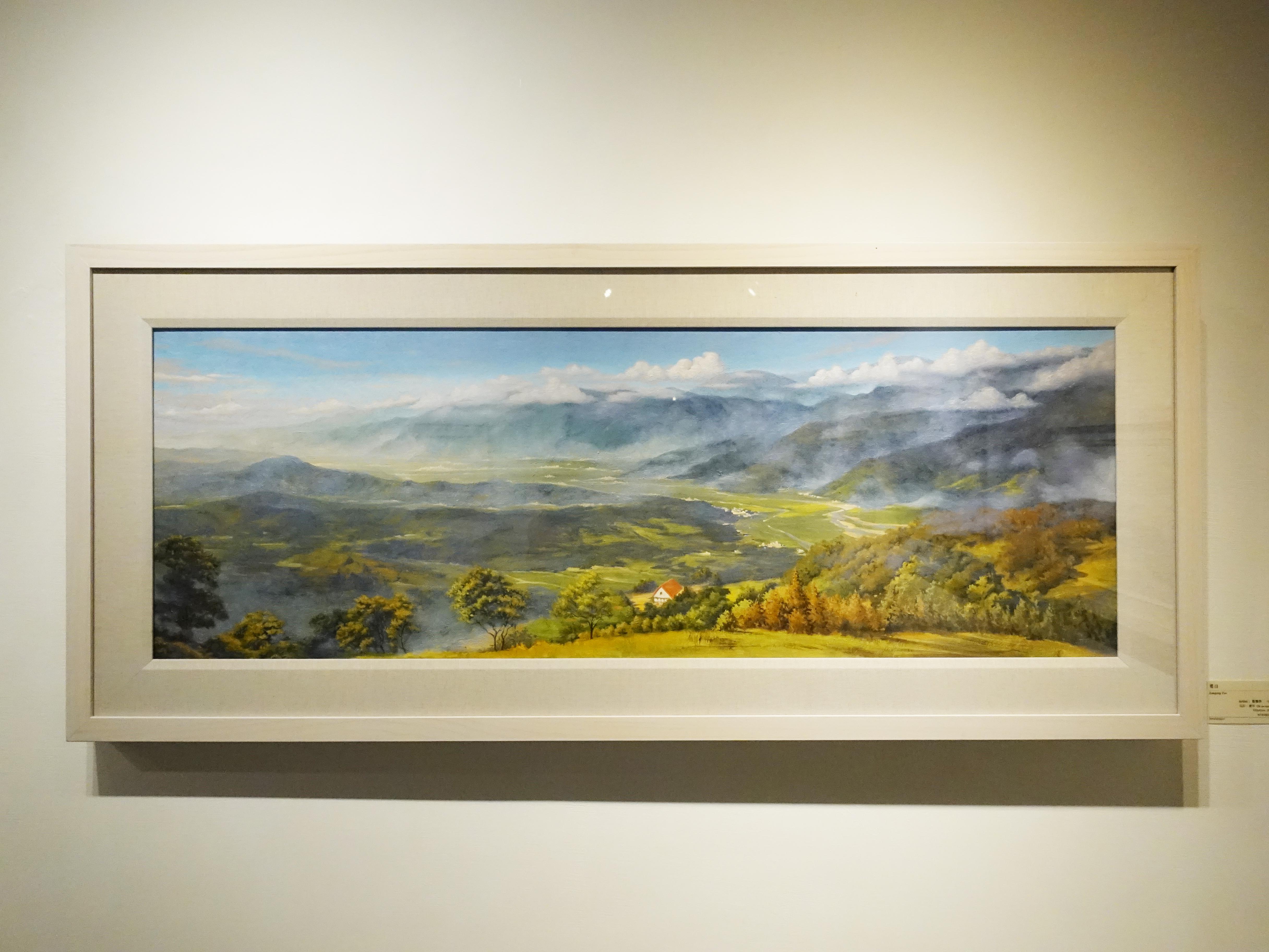 曾雅玲,《嚮往》,120x42cm,油彩、畫布,2018。