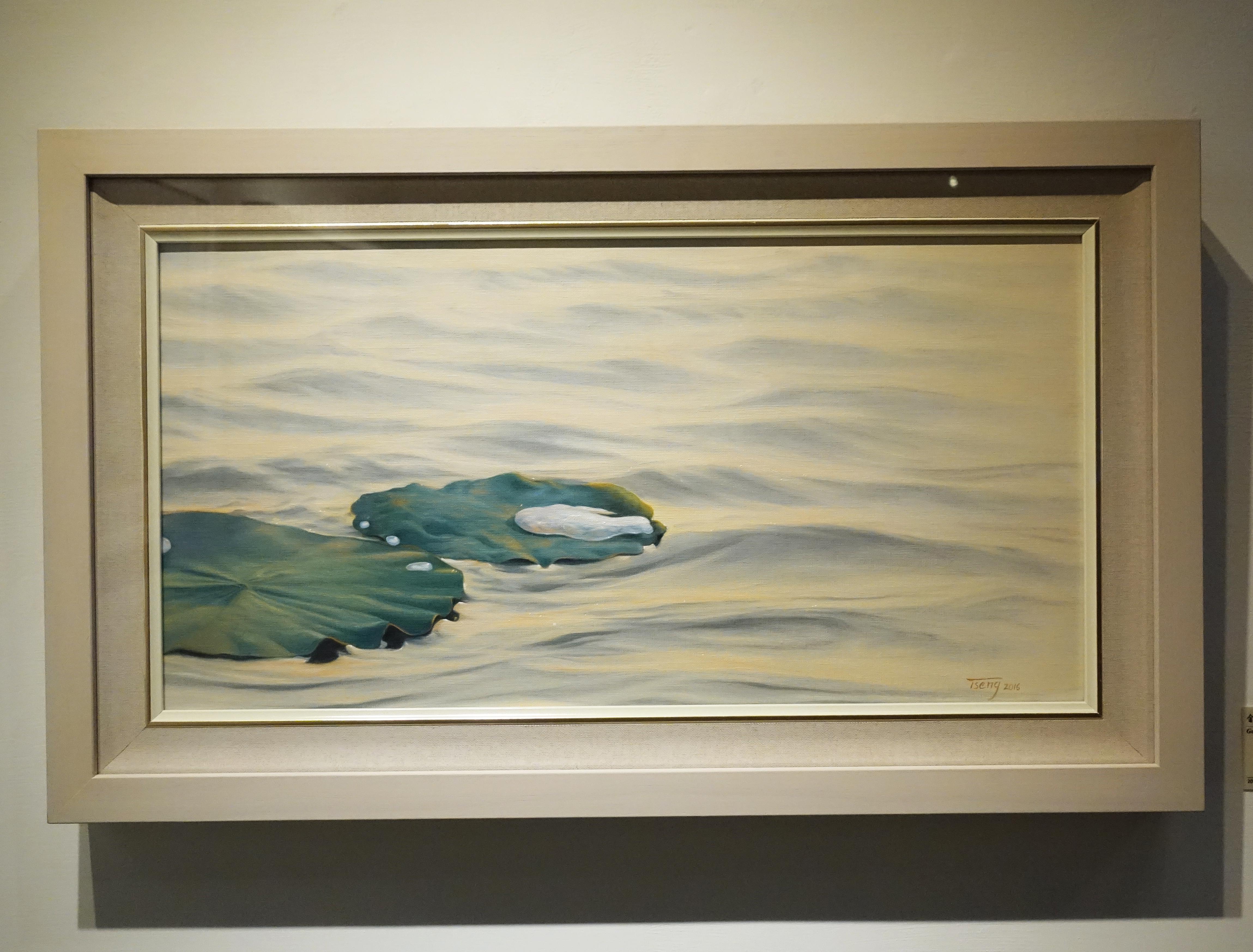 曾雅玲,《金色樂章》,60.5x31cm,油彩、畫布,2017。