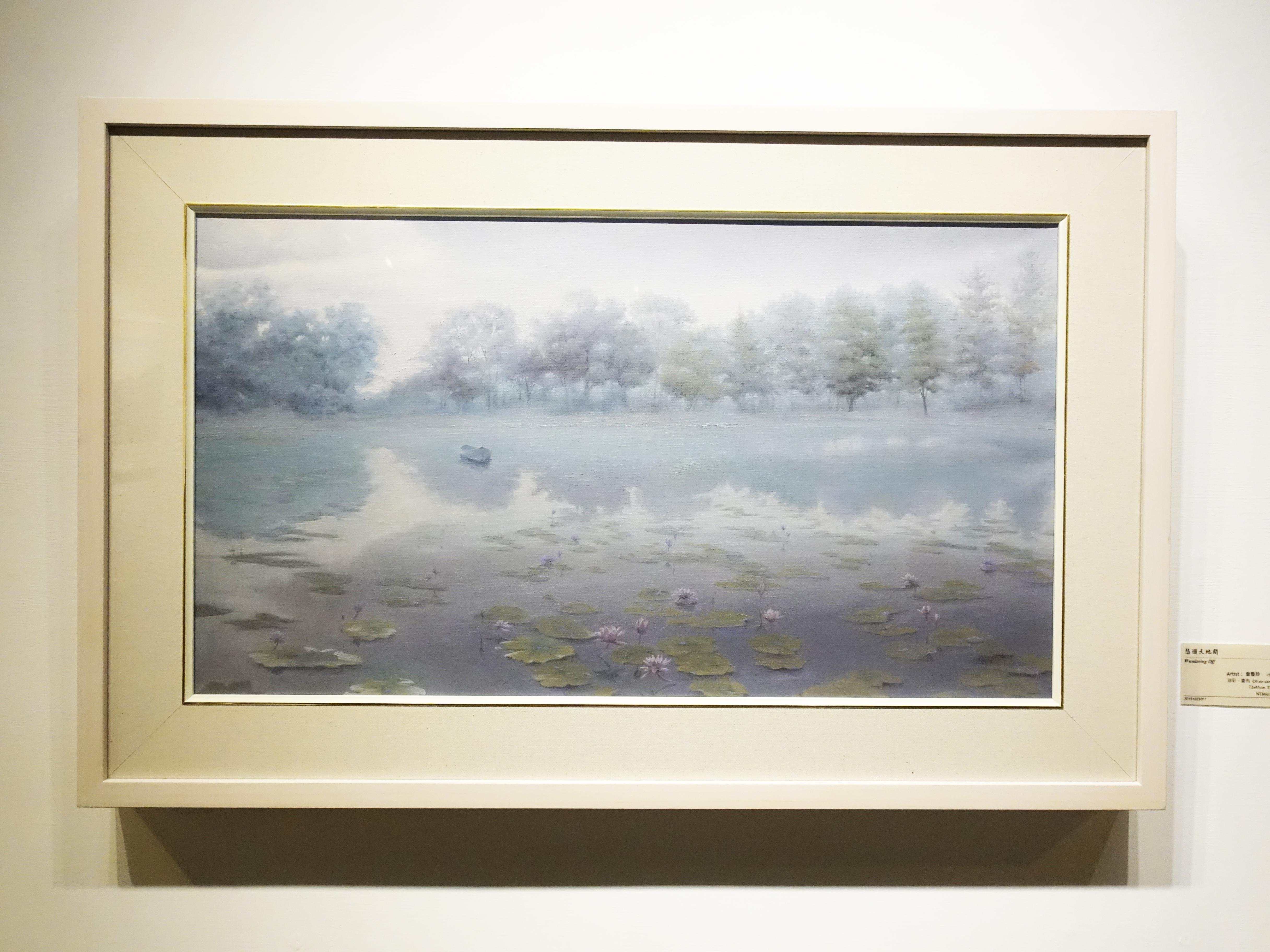 曾雅玲,《悠遊天地間》,72x41cm,油彩、畫布,2019。