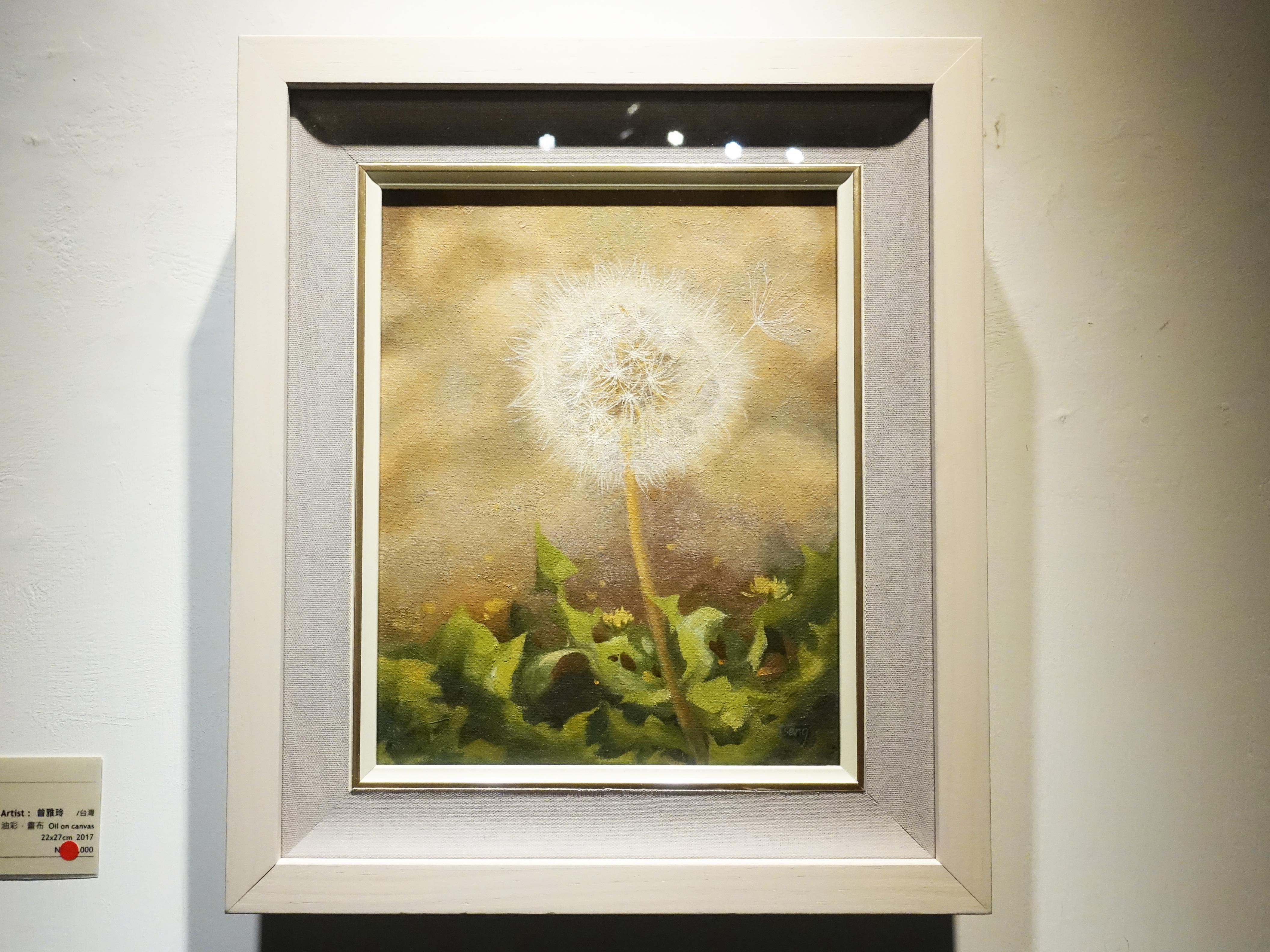 曾雅玲,《風之絮語》,22x27cm,油彩、畫布,2017。