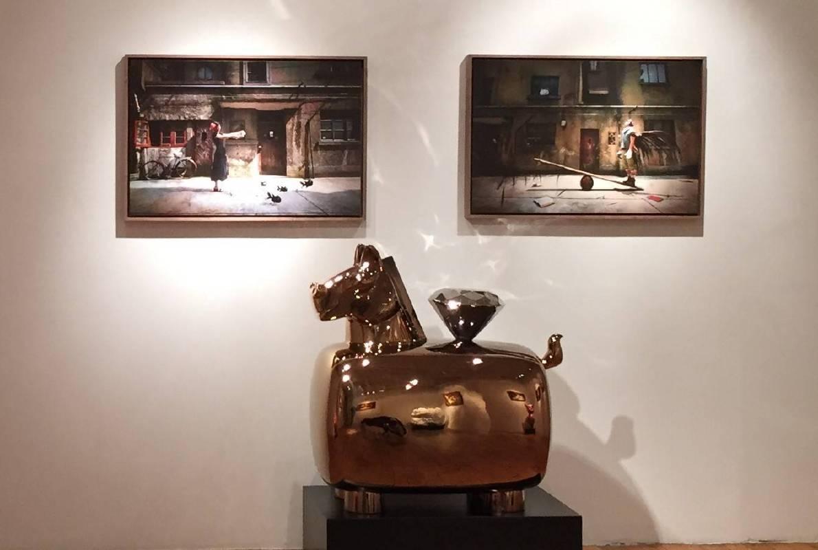 洪易於Emmanuel Fremin Gallery展出「馬上鑽」