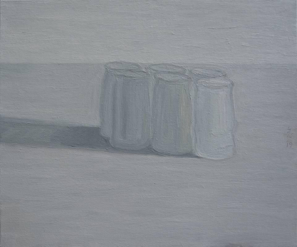 plastic 03油畫顏料、畫布、黃素描紙、墨水38 x 45.5 cm2019