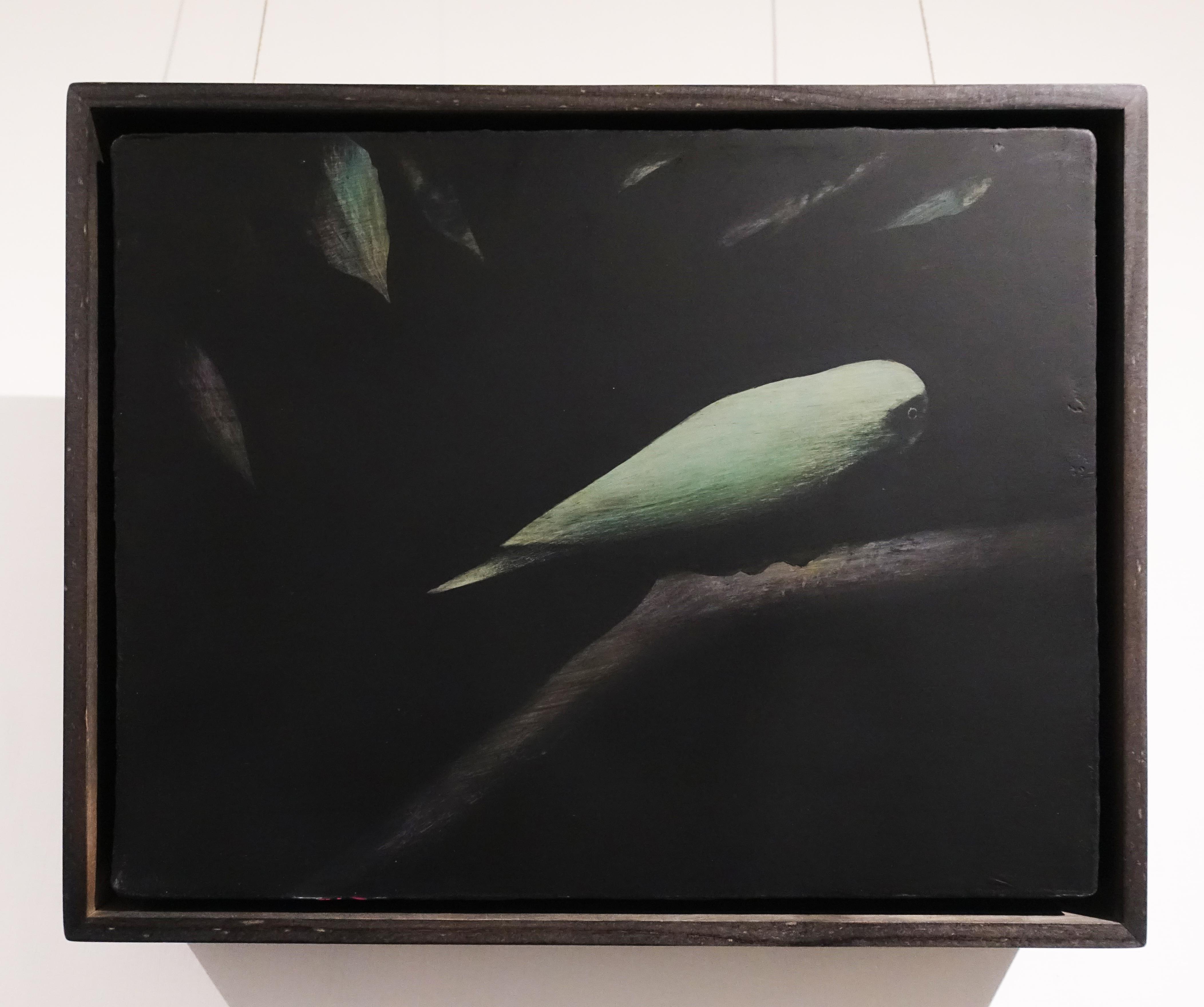 鄭思宇,《瞰》,35 x 27cm,無酸樹脂、壓克力、畫布,2019。