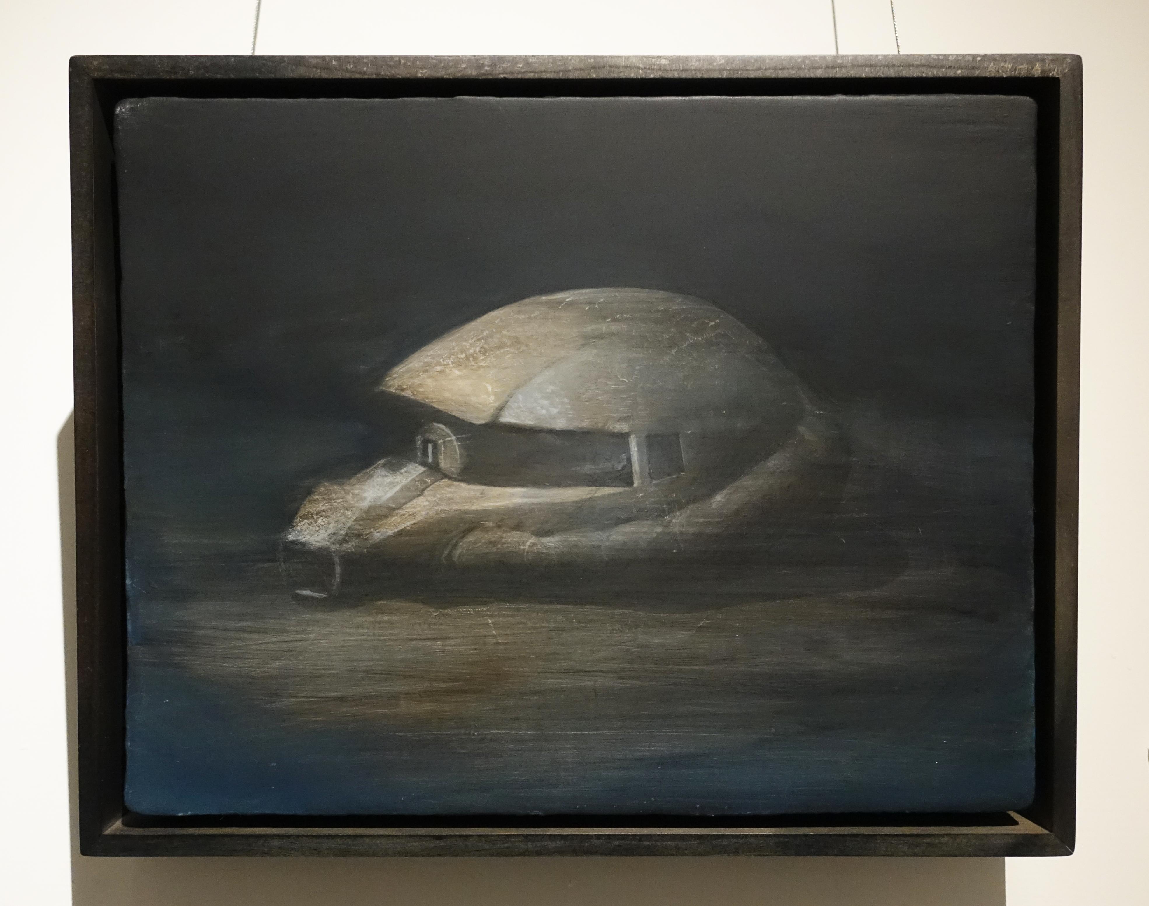 鄭思宇,《獨眼巨人》,35 x 27cm,無酸樹脂、壓克力、畫布,2019。