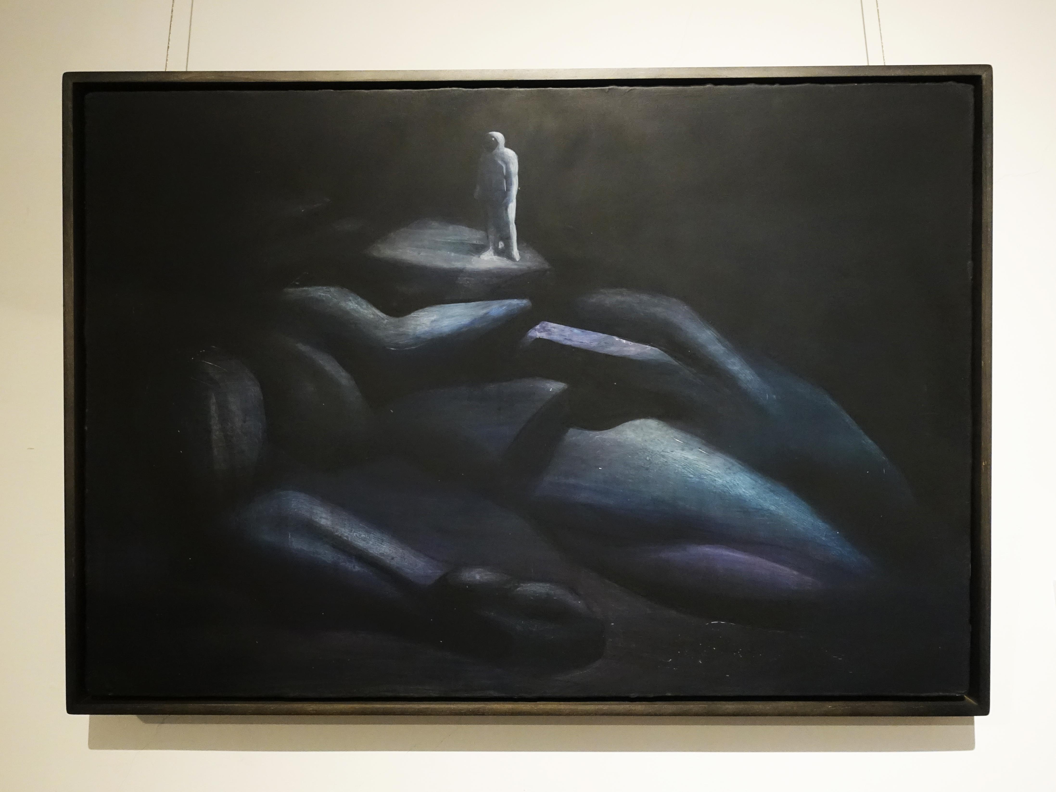 鄭思宇,《座標確認》,75 x 53 cm,無酸樹脂、壓克力、畫布,2019。
