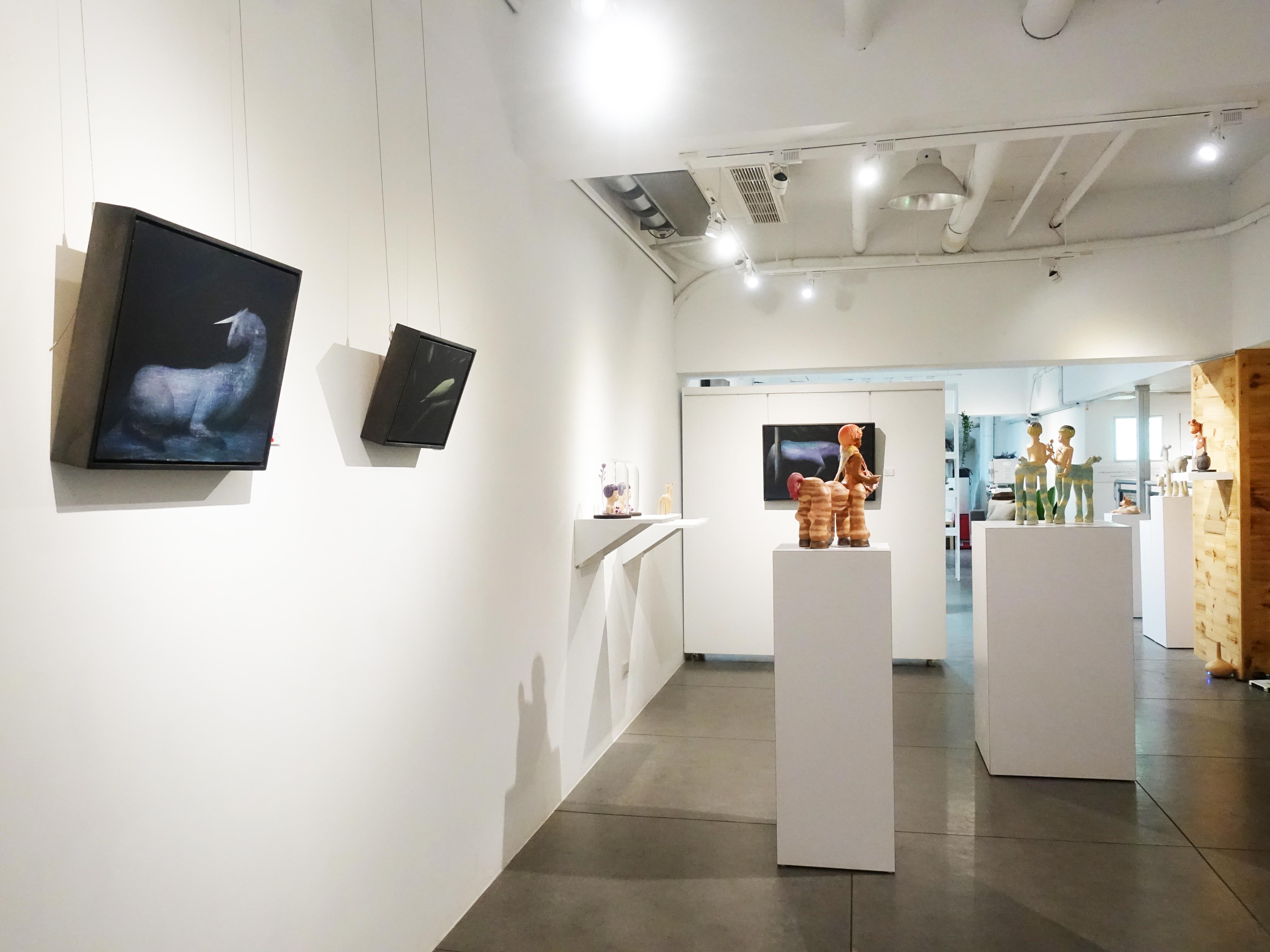 CC Gallery展出藝術家楊宗嘉與鄭思宇雙人展「雙生神話 」。