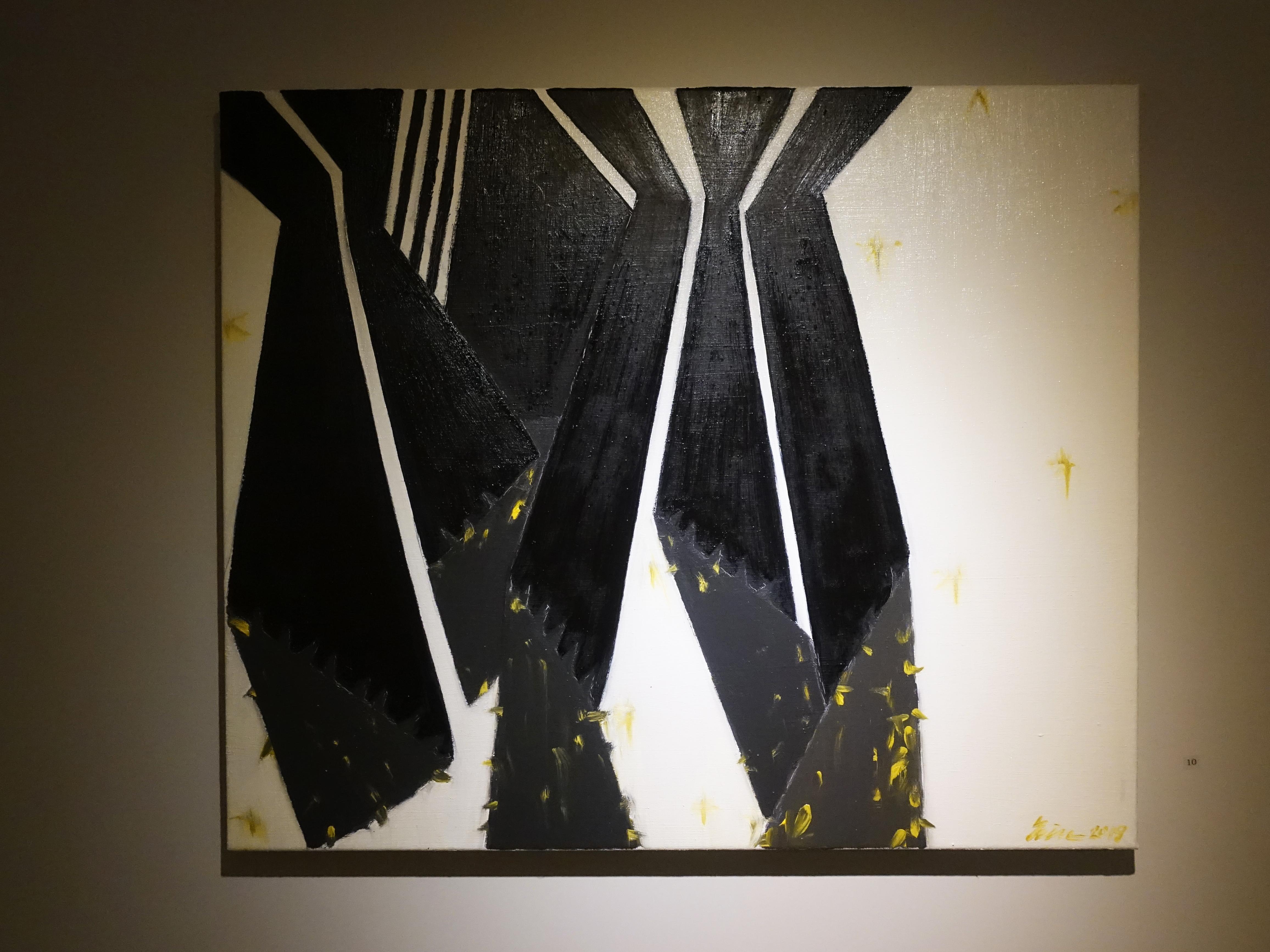 劉永仁,《空間張力之四》,60x72.5cm,油彩、畫布,2019。