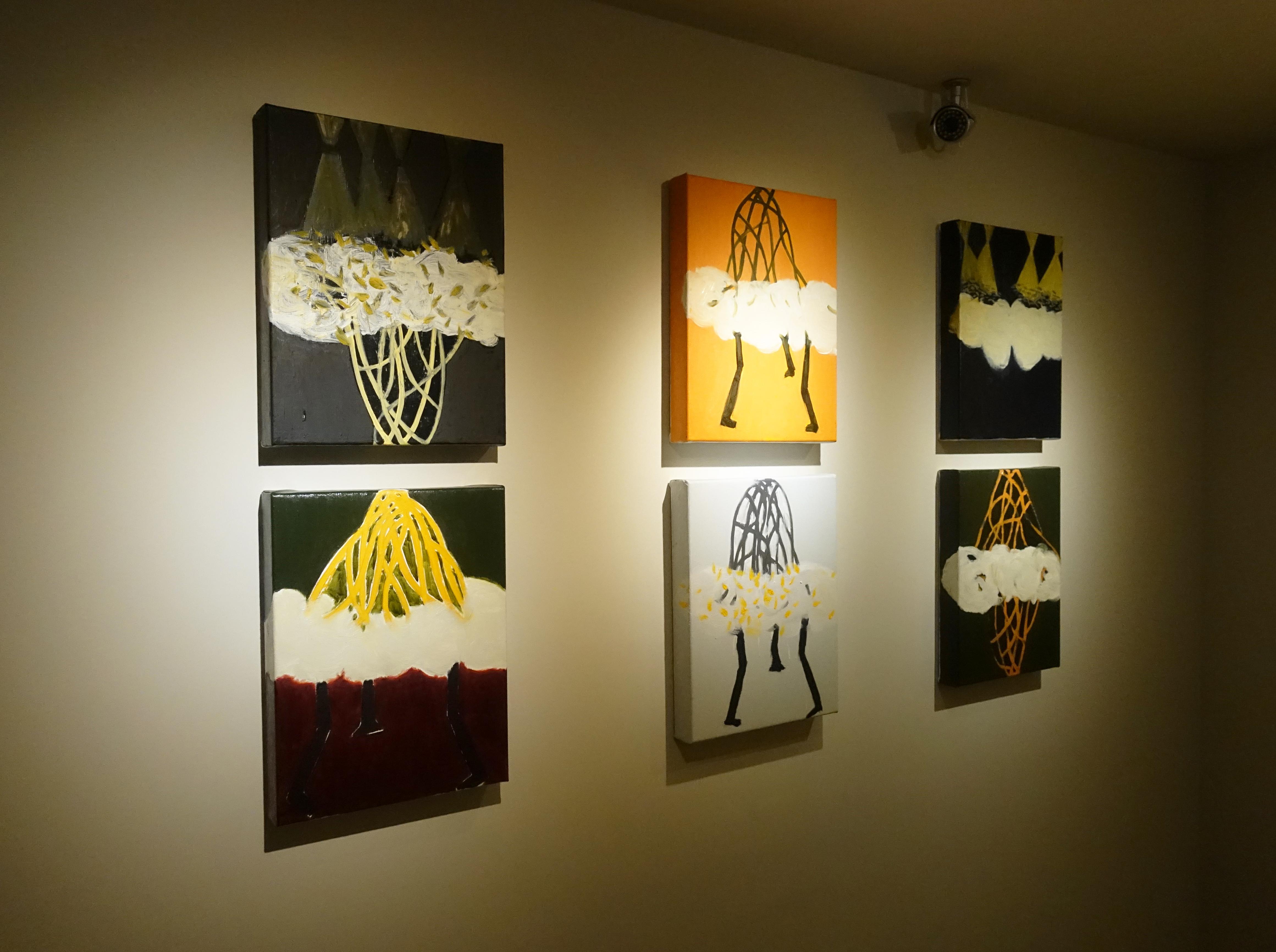 藝術家劉永仁展出晶萌系列作品。