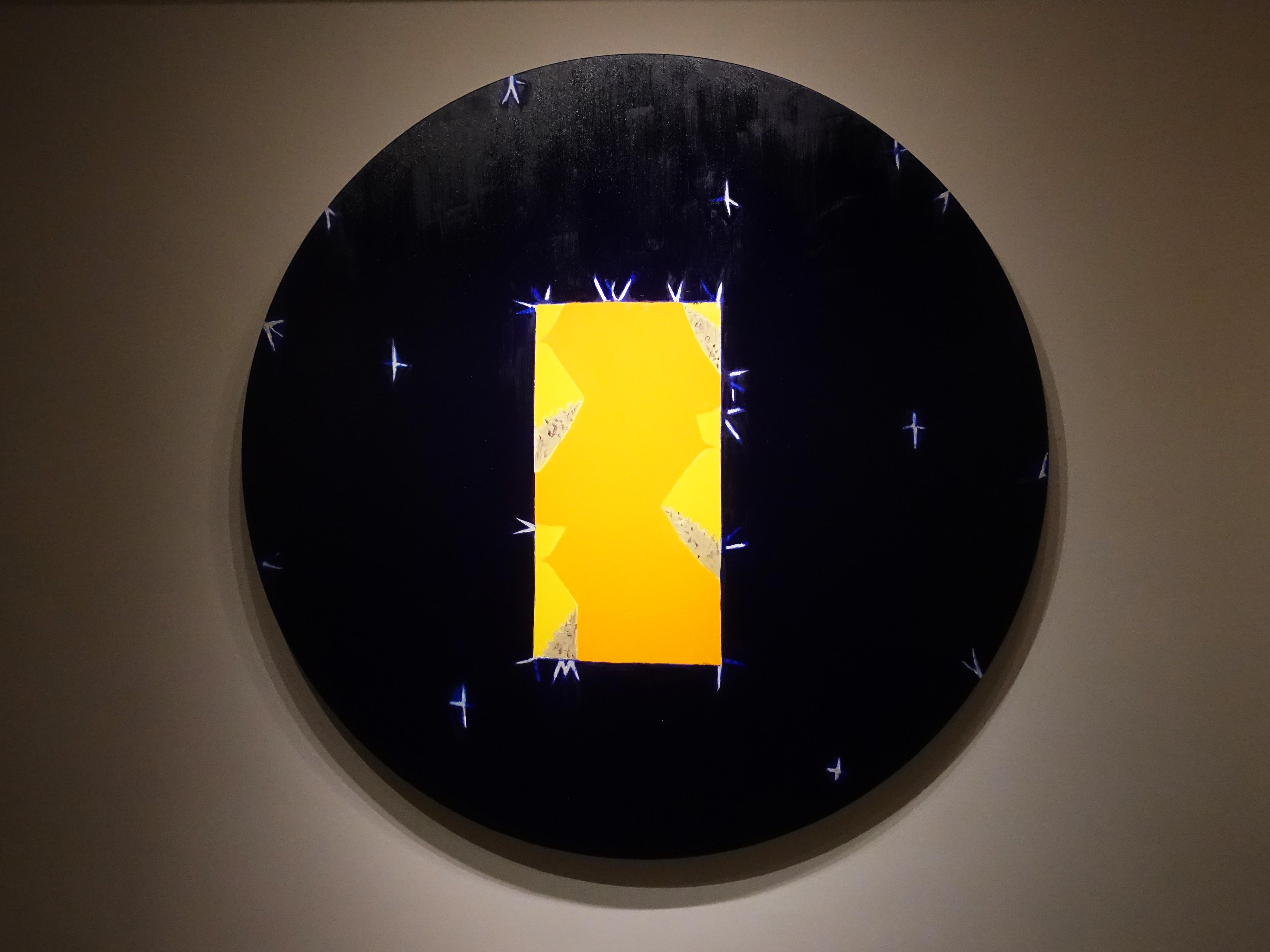 劉永仁,《時空的機遇》,直徑160cm,油彩、畫布,2019。