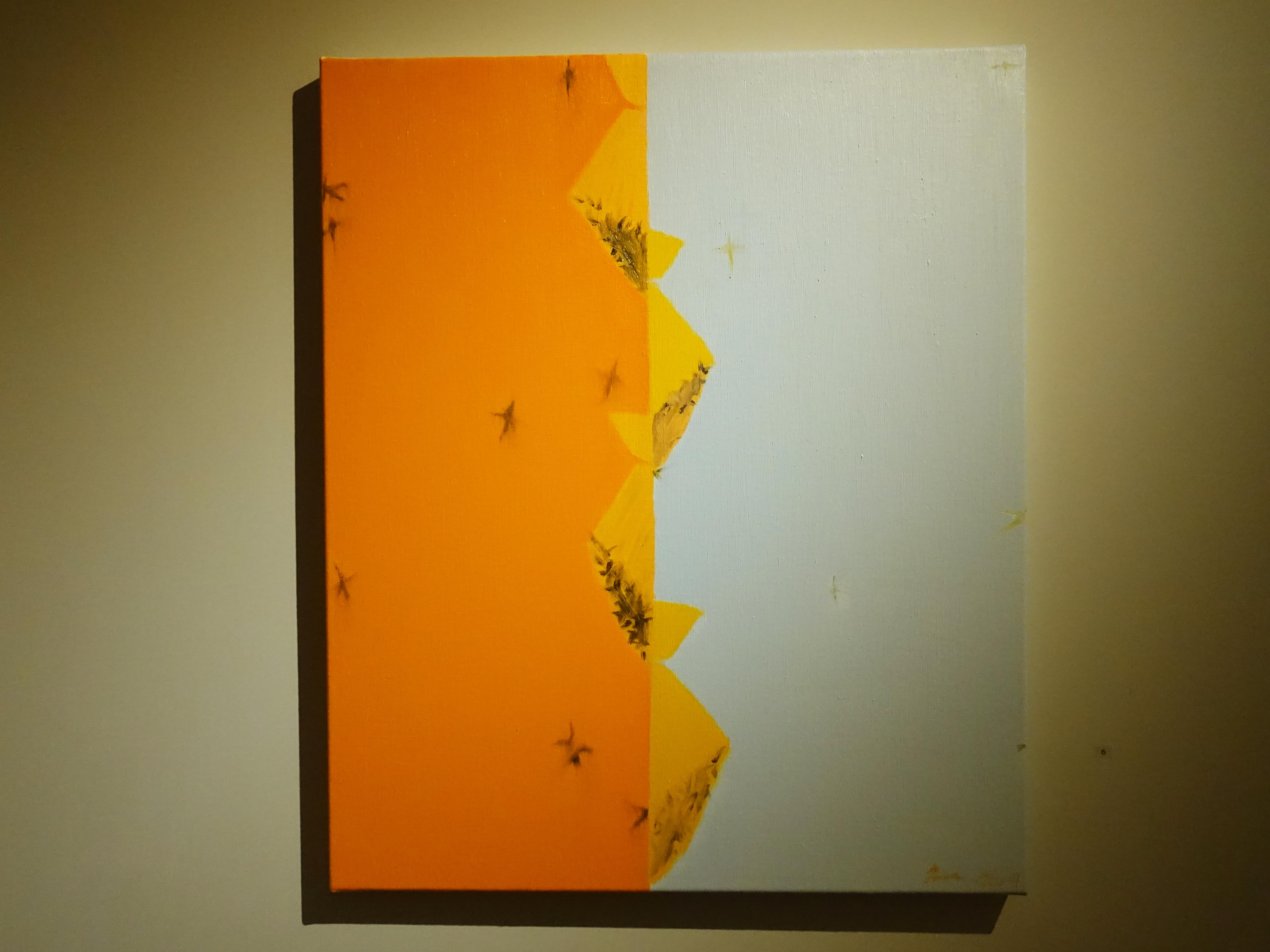 劉永仁,《游移疆界之四》,72.5x60.5cm,油彩、畫布,2019。