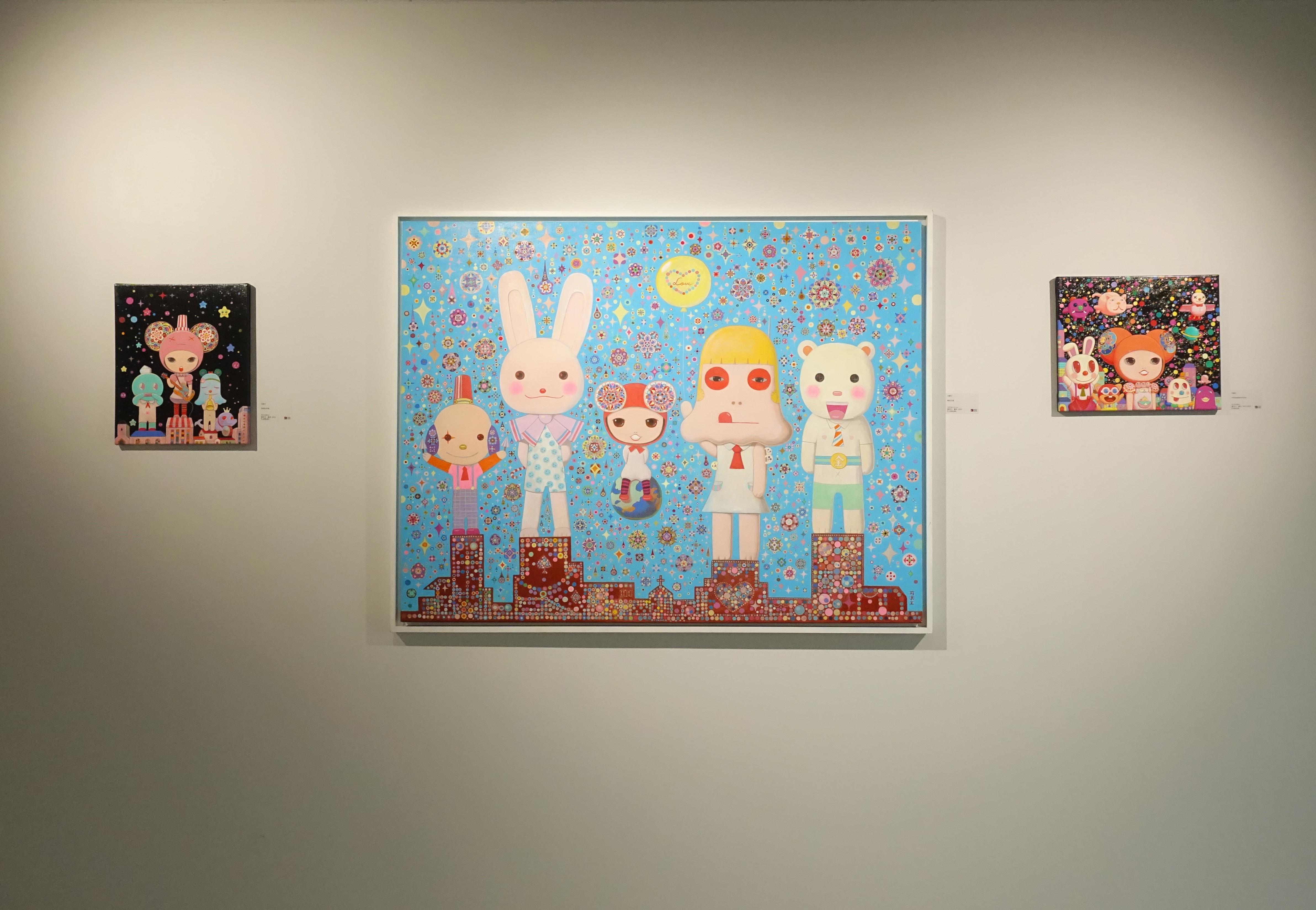 宛儒畫廊展出藝術家可樂王作品。