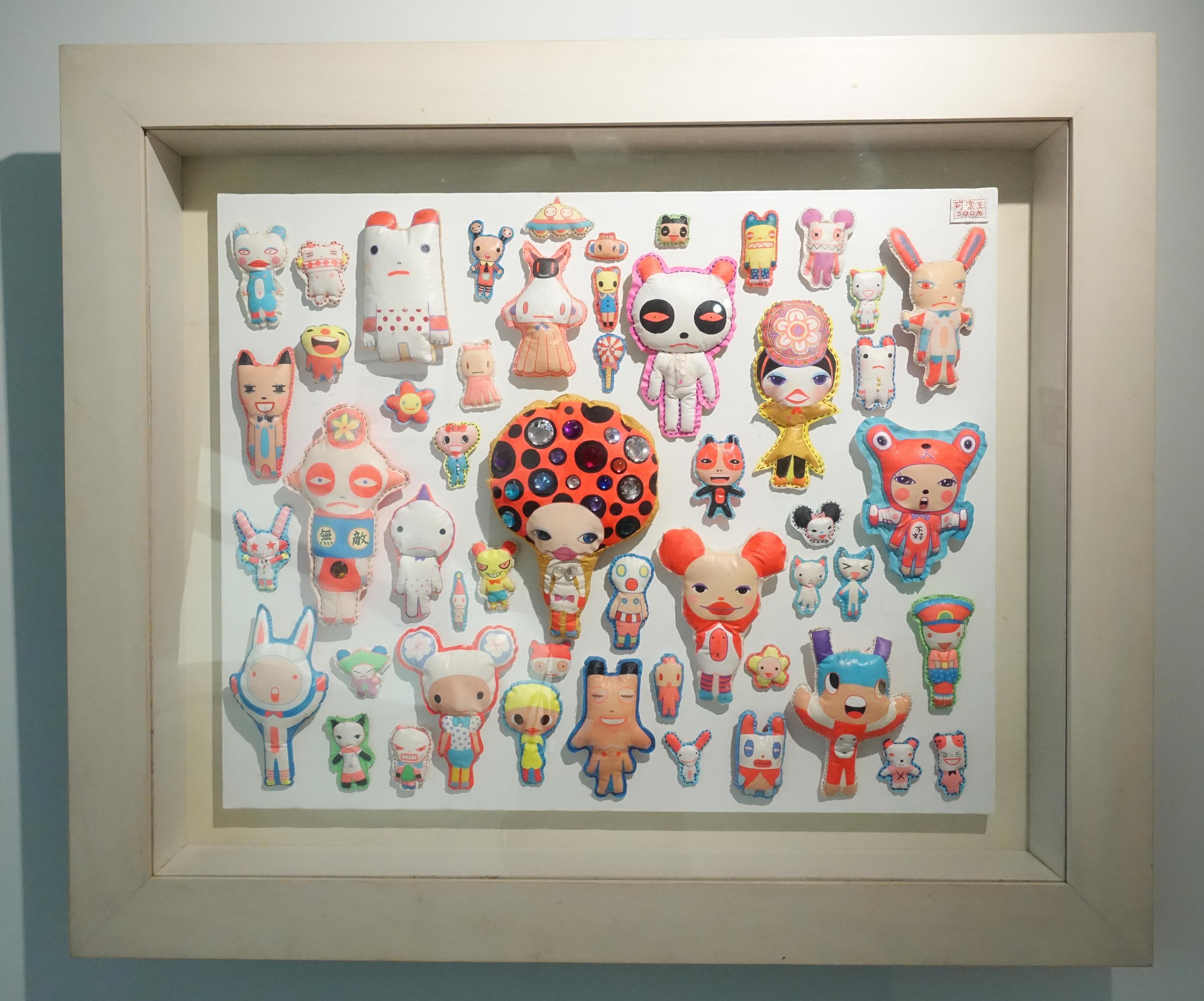 可樂王,《我的米奇老鼠俱樂部》,101 x 119.4 x 12 cm,複合媒材,2009。