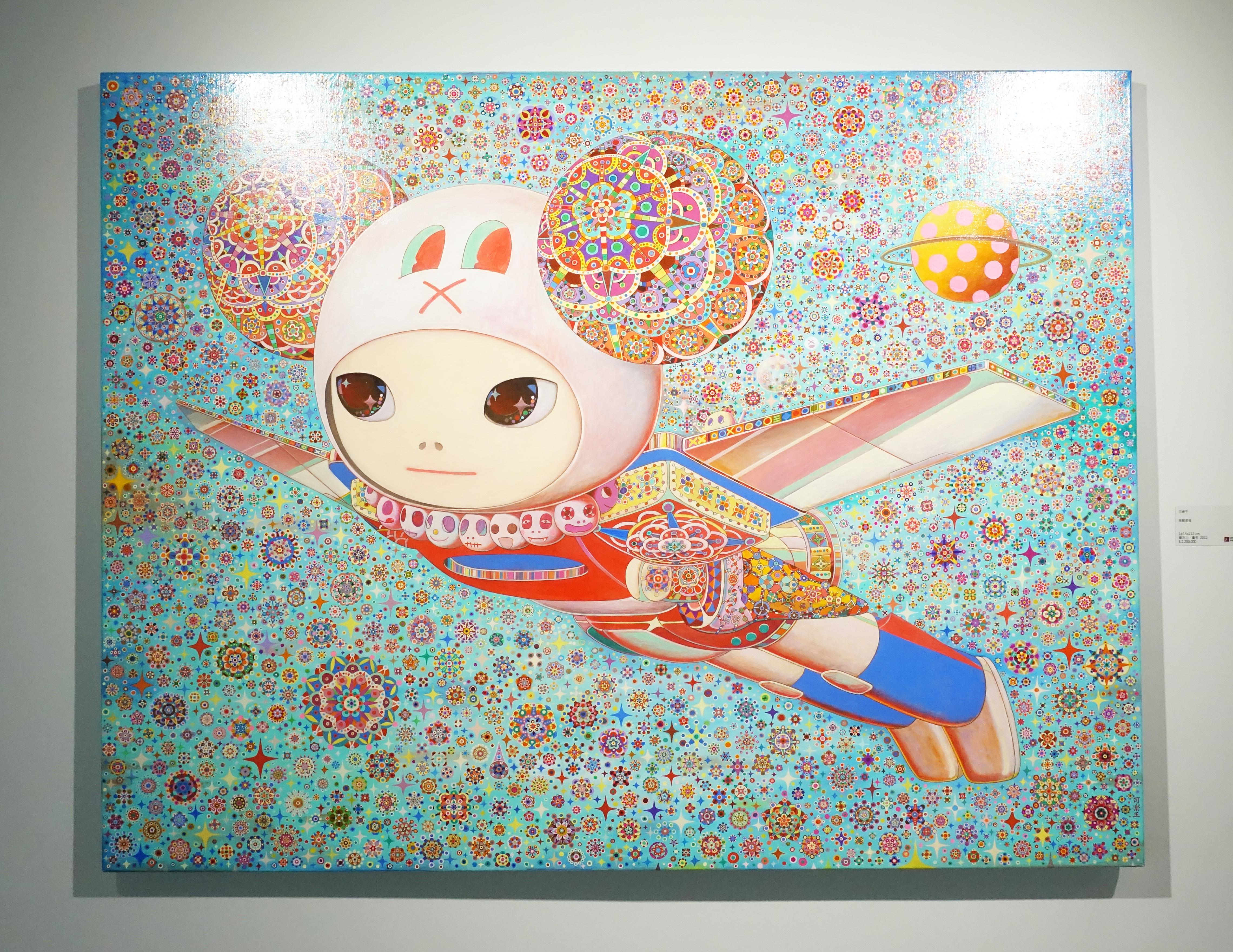 可樂王,《美麗島號》,145.5 x 112 cm,壓克力、畫布,2012。