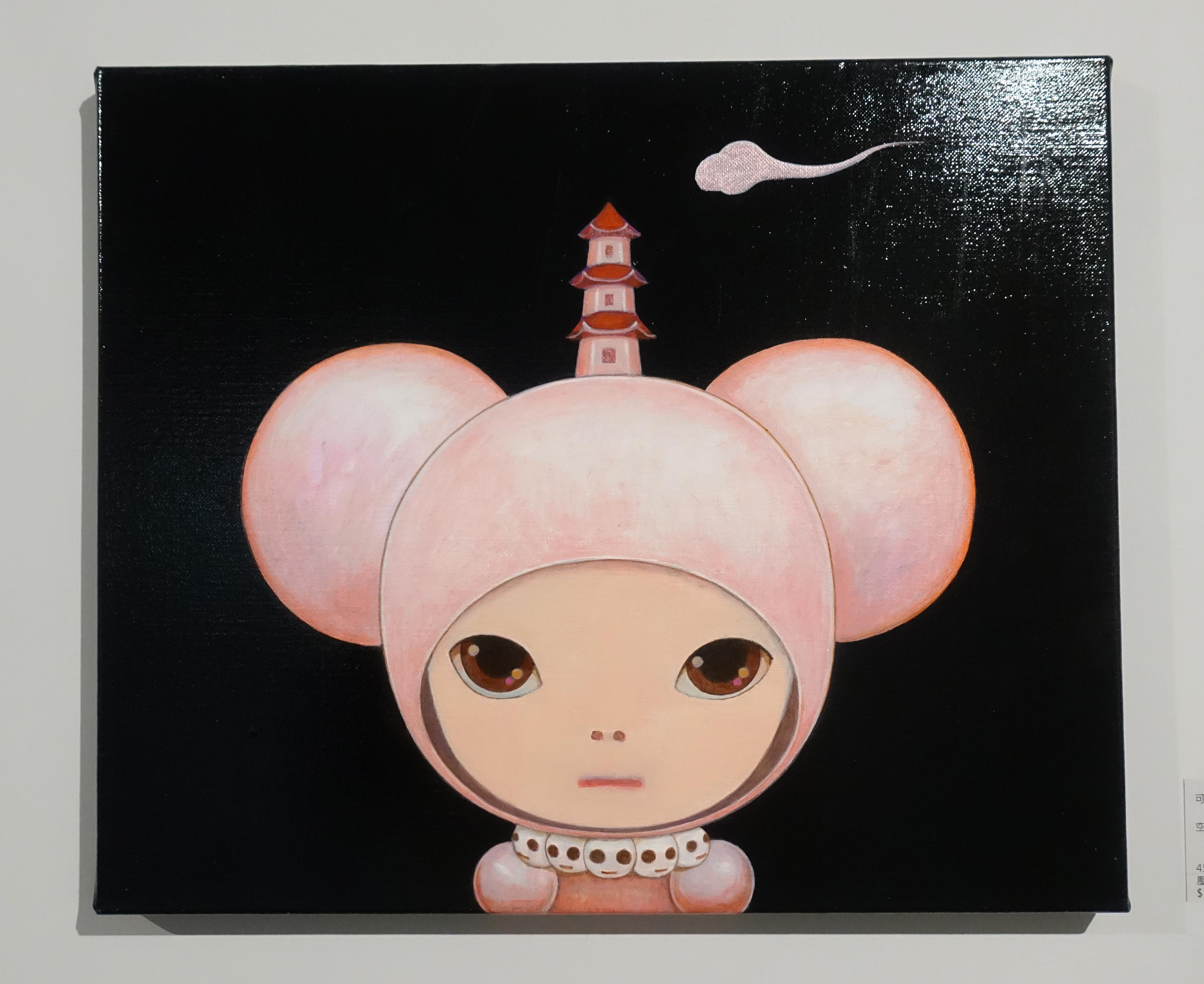 可樂王,《空》,45.5 x 38 cm,壓克力、畫布,2012。