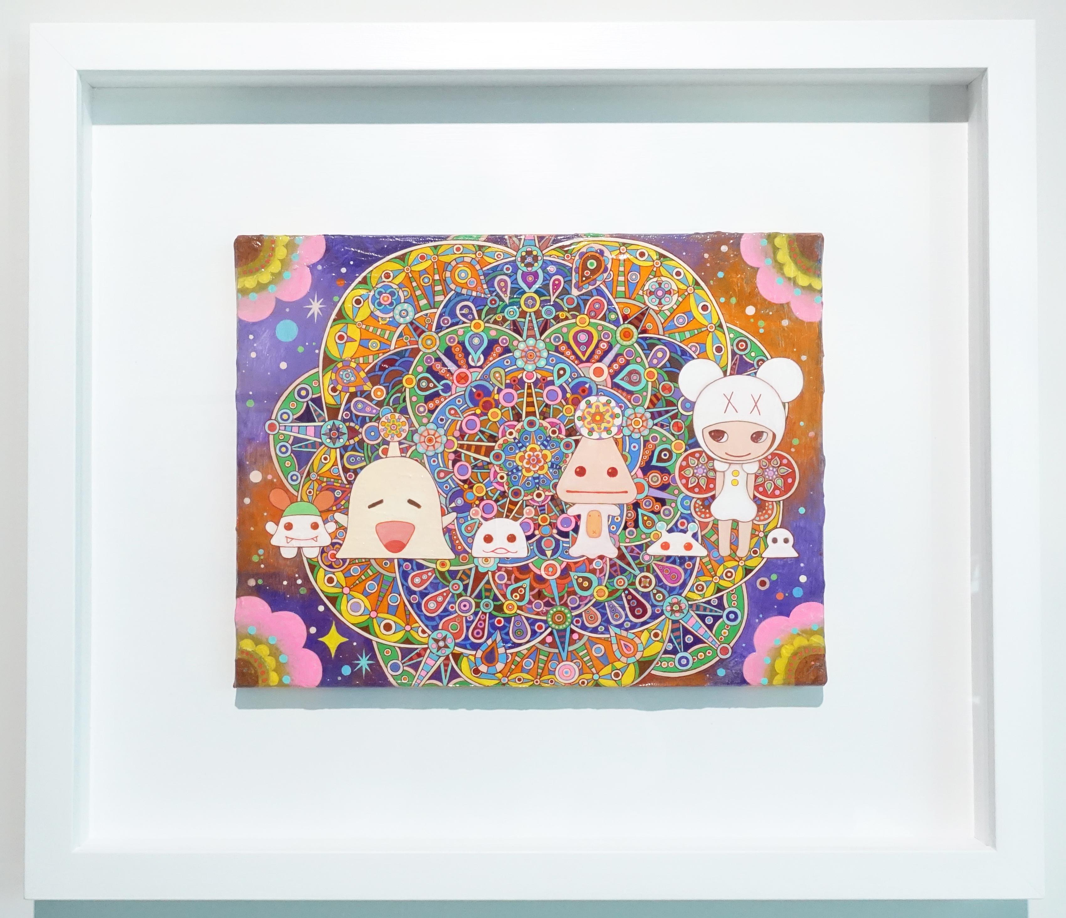 可樂王,《有星星的銀河》,35 x 27 cm,複合媒材,2012-2019。