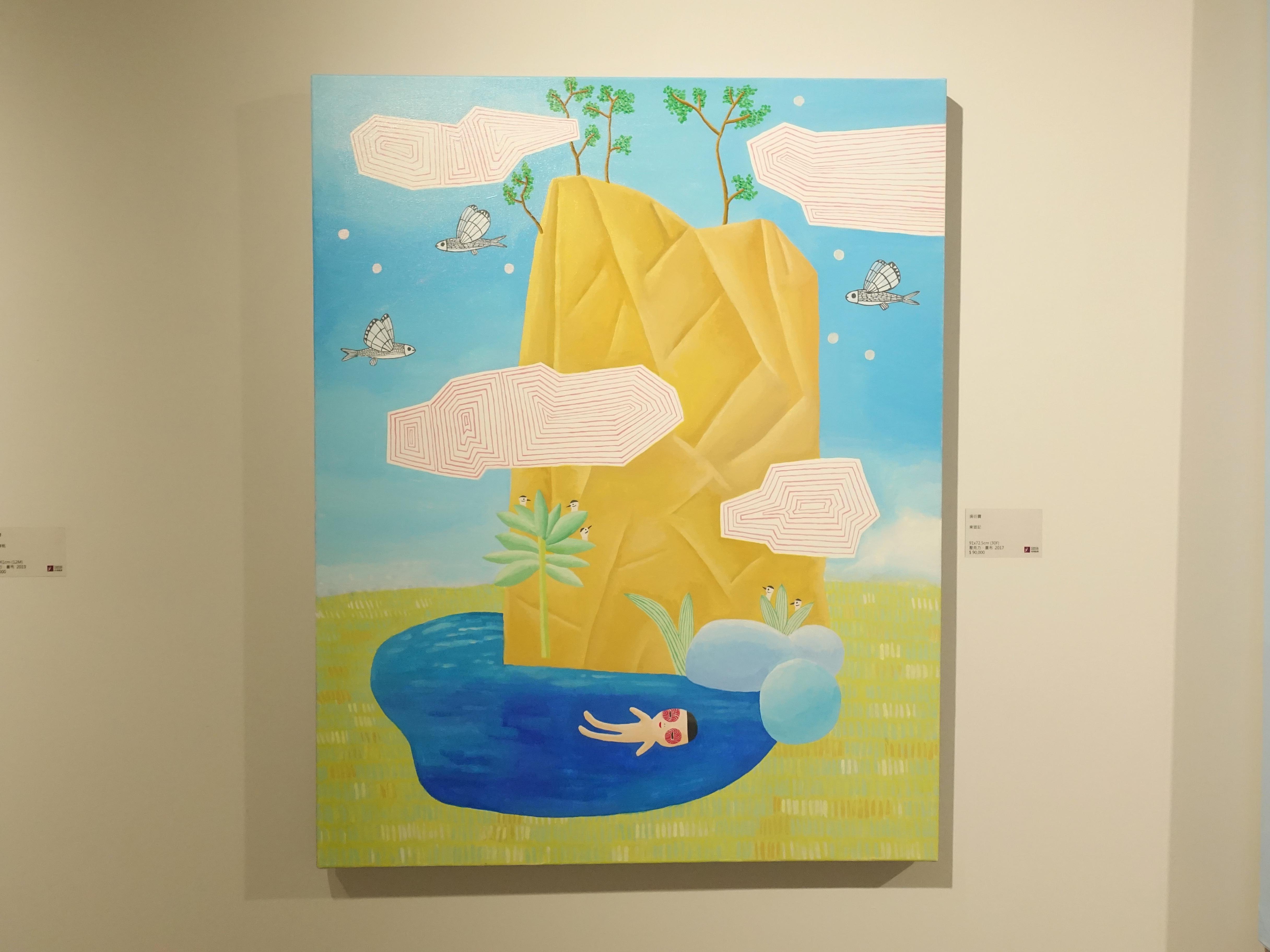 吳衍震,《東遊記》,91  x 72.5 cm,壓克力、畫布,2017。
