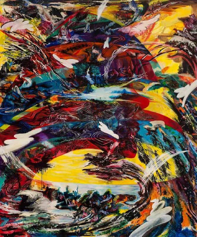 王淑鈴,囟,2010-2011,油彩/畫布,245 x 200 cm