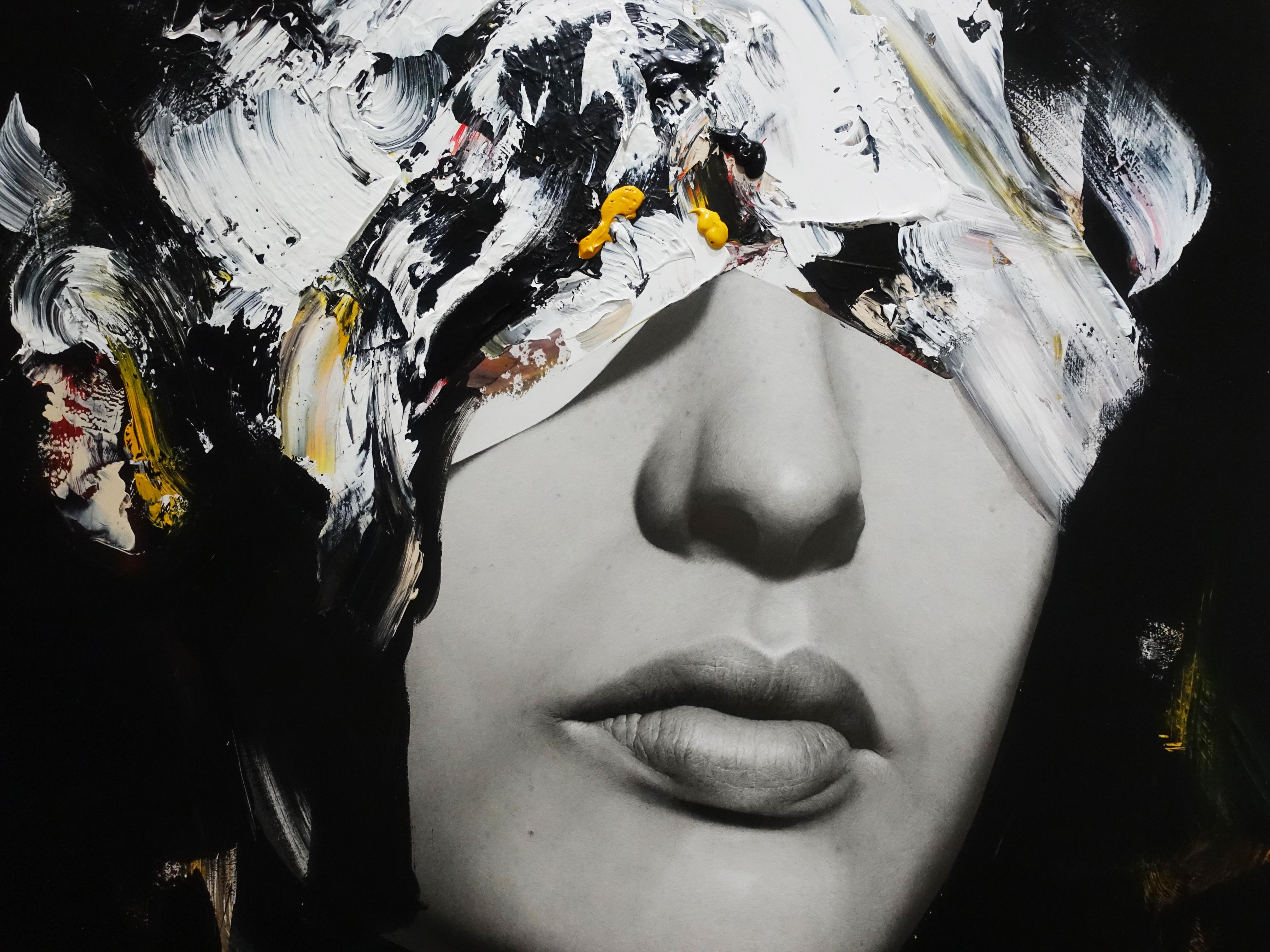 佐藤誠高,《VIP2》細節,130 x 97 cm,鉛筆、壓克力、紙、木板,2019。