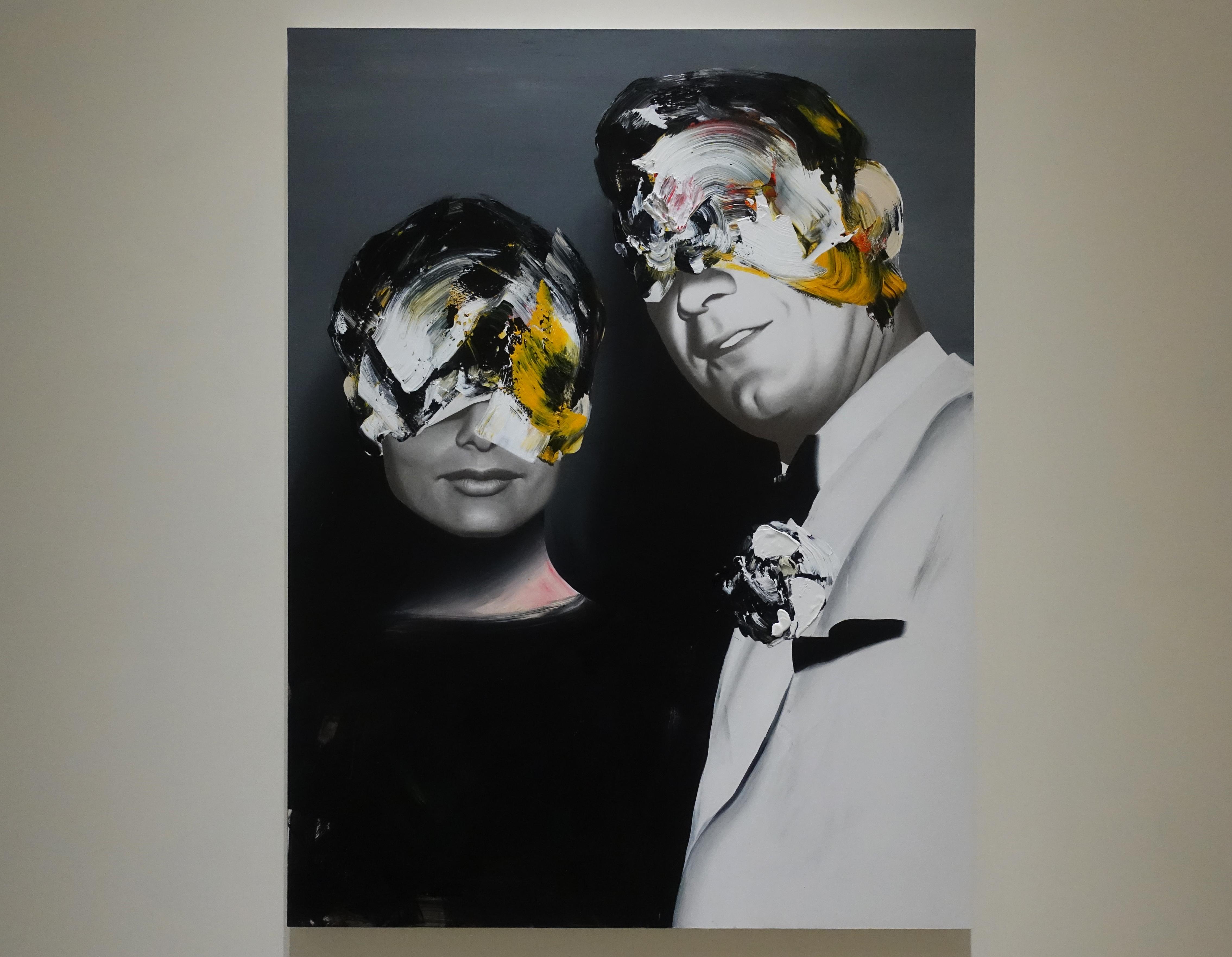 佐藤誠高,《Lover》,140 x 107 cm,鉛筆、壓克力、紙、木板,2019。