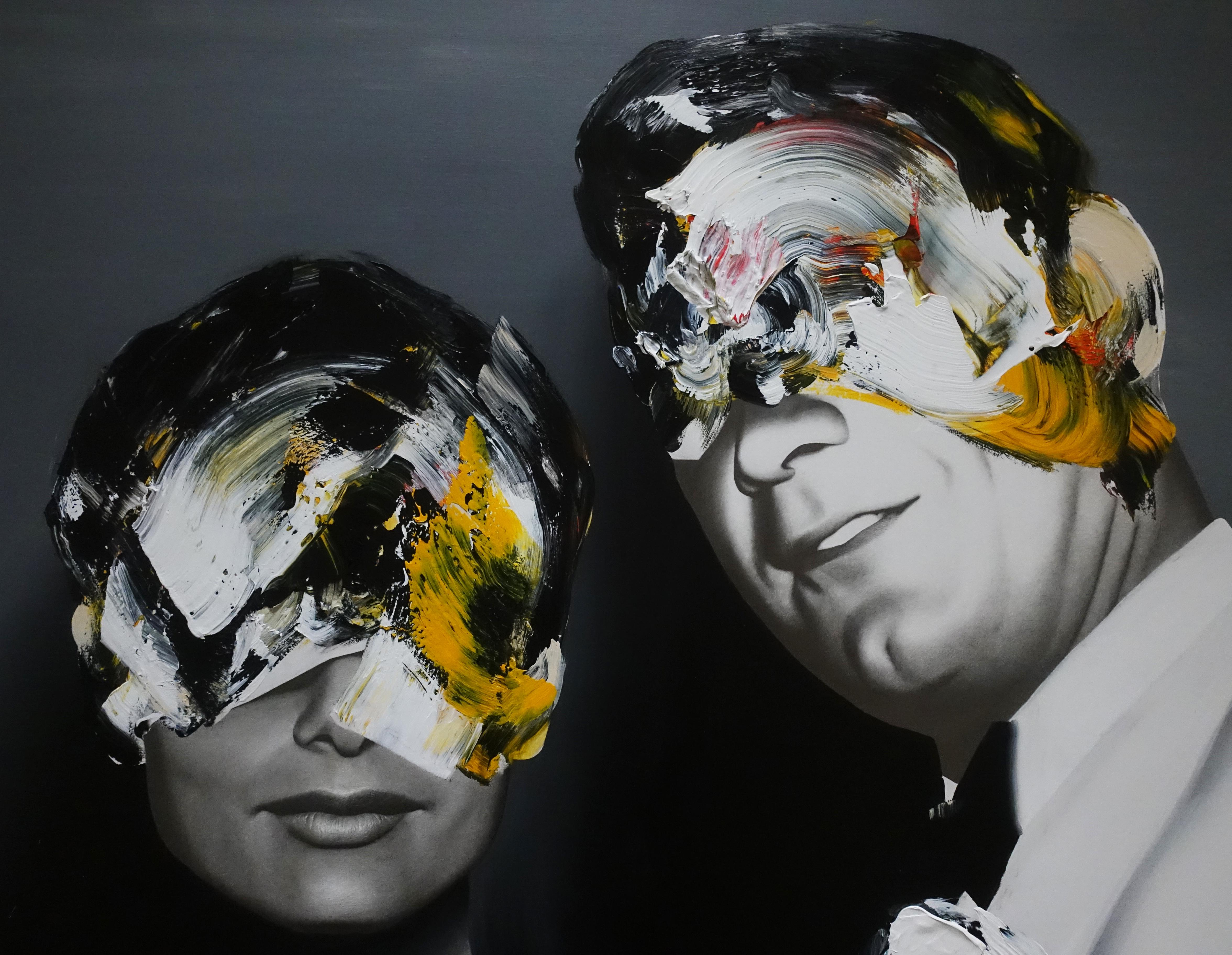 佐藤誠高,《Lover》細節,140 x 107 cm,鉛筆、壓克力、紙、木板,2019。