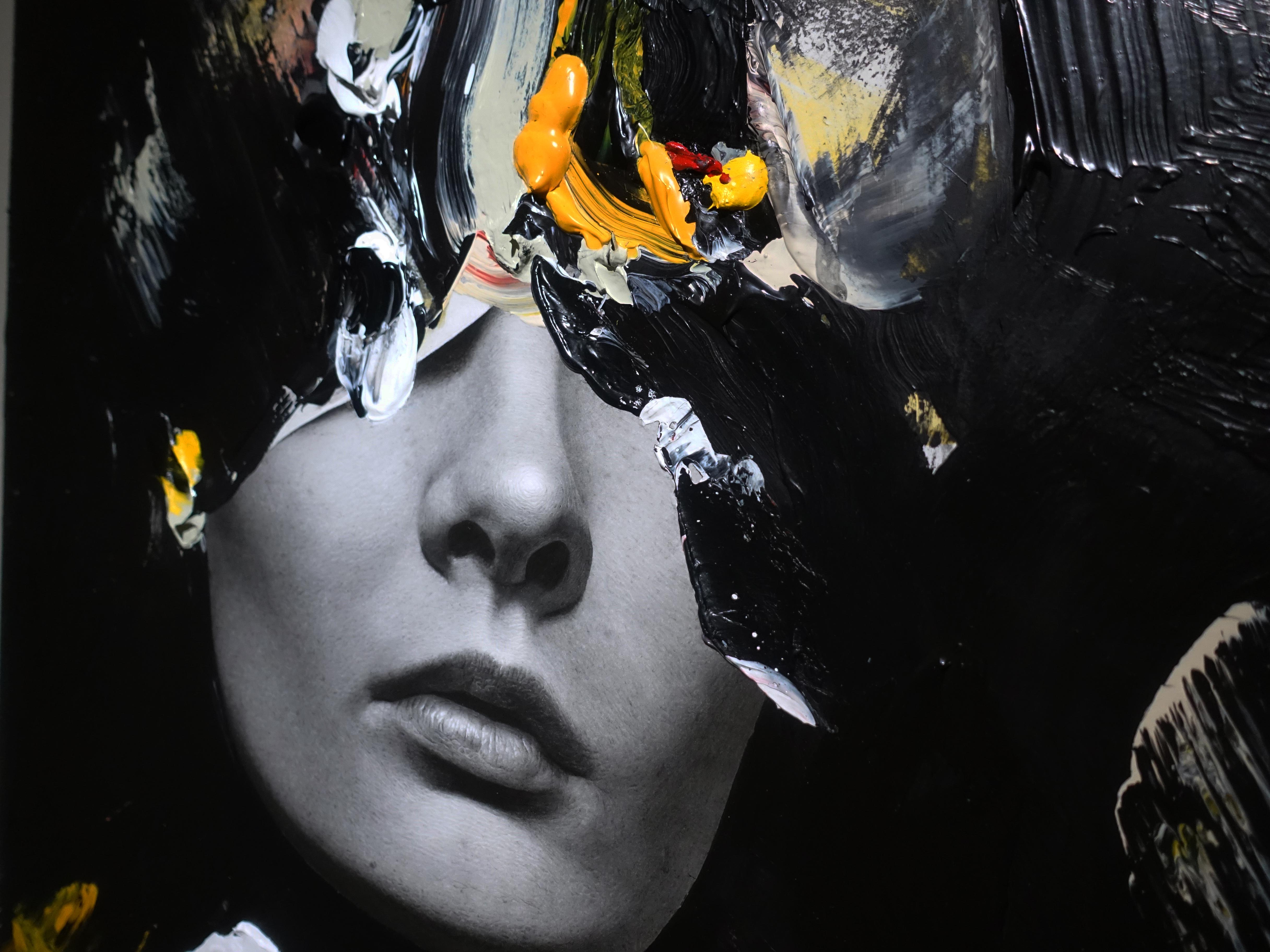 佐藤誠高,《Star》細節,53 x 45.5 cm,鉛筆、壓克力、紙、木板,2019。
