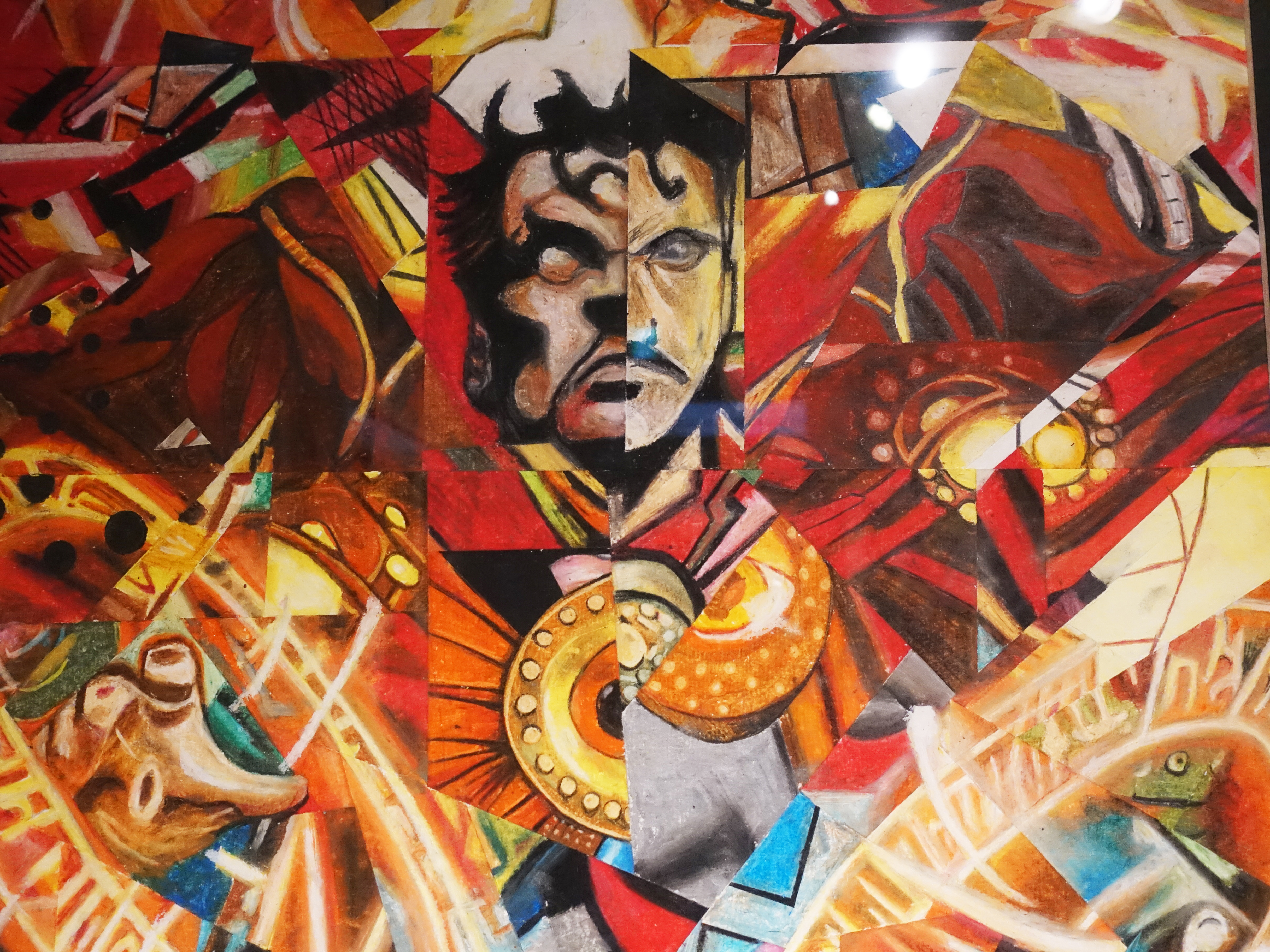 林俊良,《Under the impression of Dr.Strange》細節,110 x 61 cm,油畫棒繪於紙上。