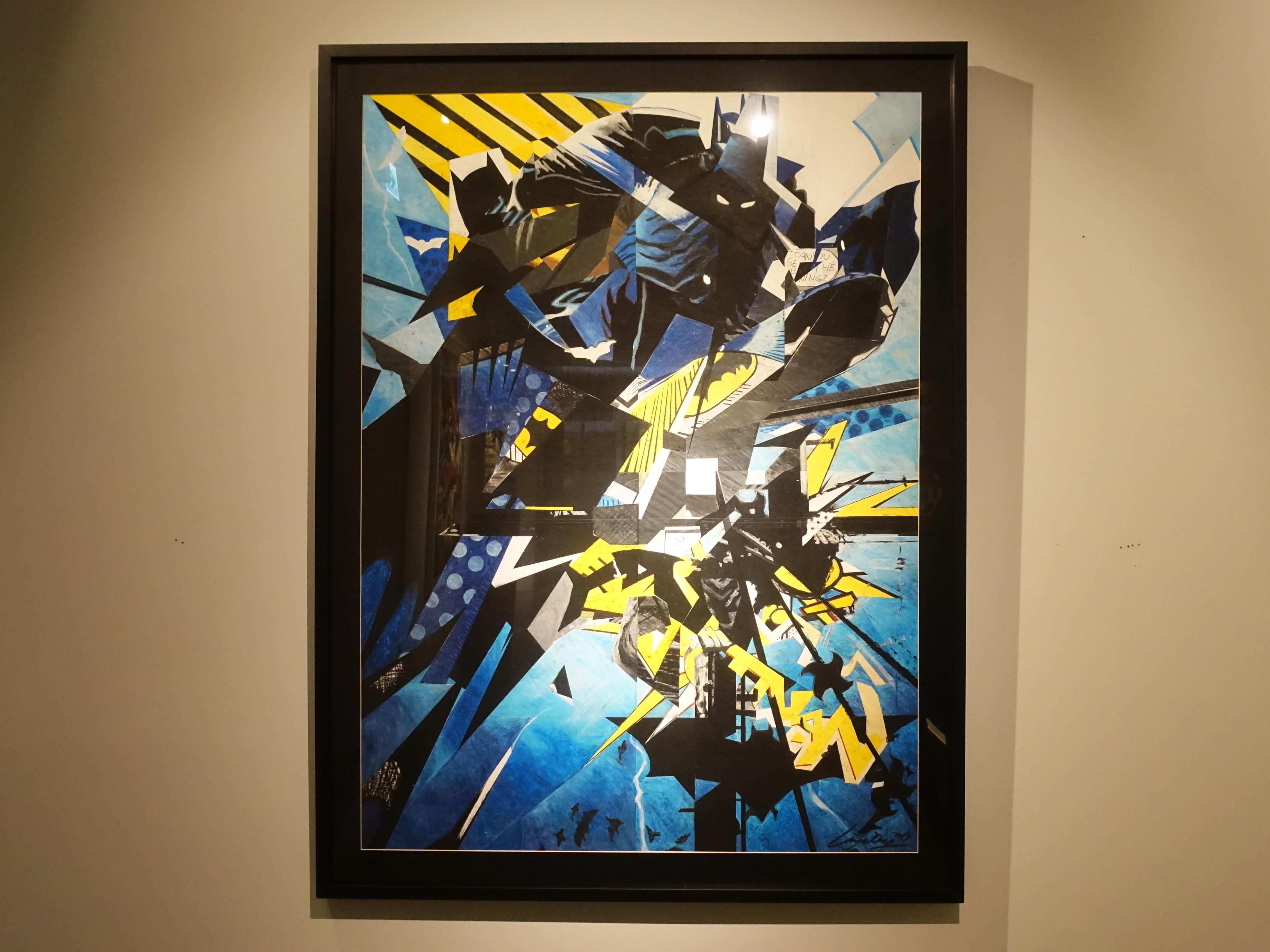 林俊良,《Uder the impression of Batman》,125 x 90 cm,油畫棒繪於紙上。