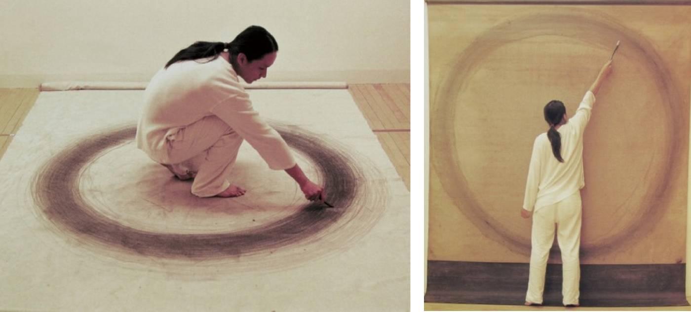 吳冠德 / 至圓 / 行為、水墨、石墨於畫布 / 2002 年至今 / 藝術家自藏