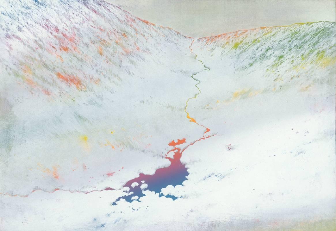 游雅蘭 Rainbow River 2019 木刻油印凸版 63.5x92cm