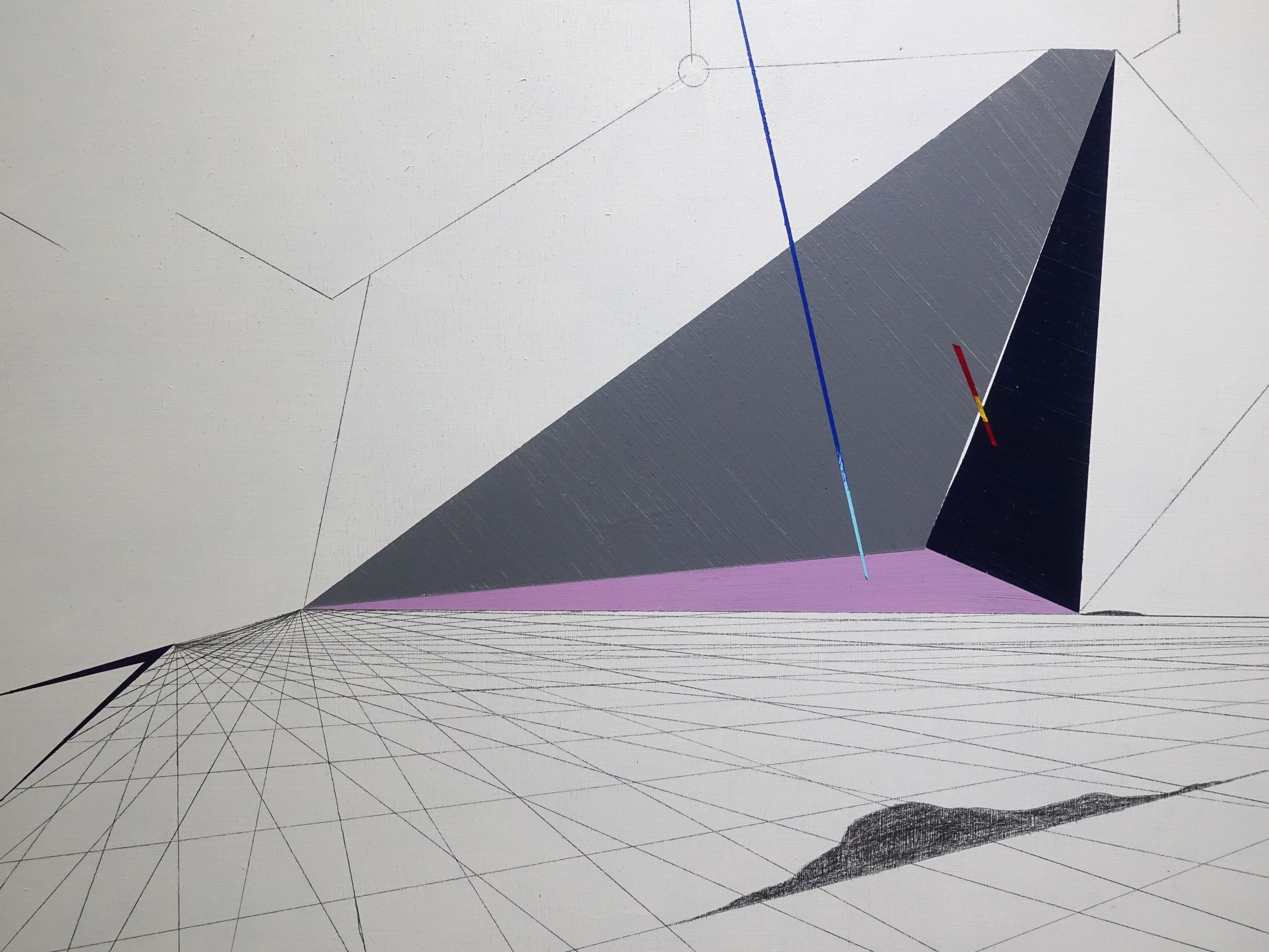 張獻文,《移植∞繁殖計畫20》細節,60x60x5 cm,木板、丙烯酸顏料、炭精筆、鉛筆,2019。