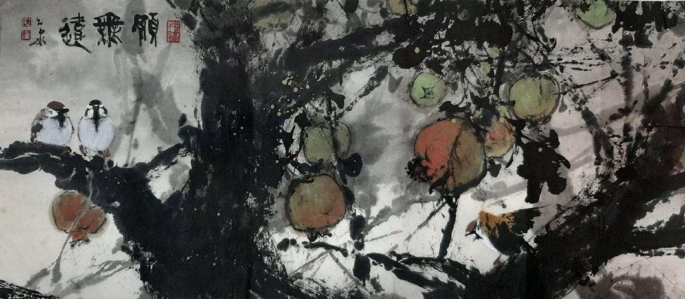 陳久泉 《願無悔》 2019  79-34cm 紙本