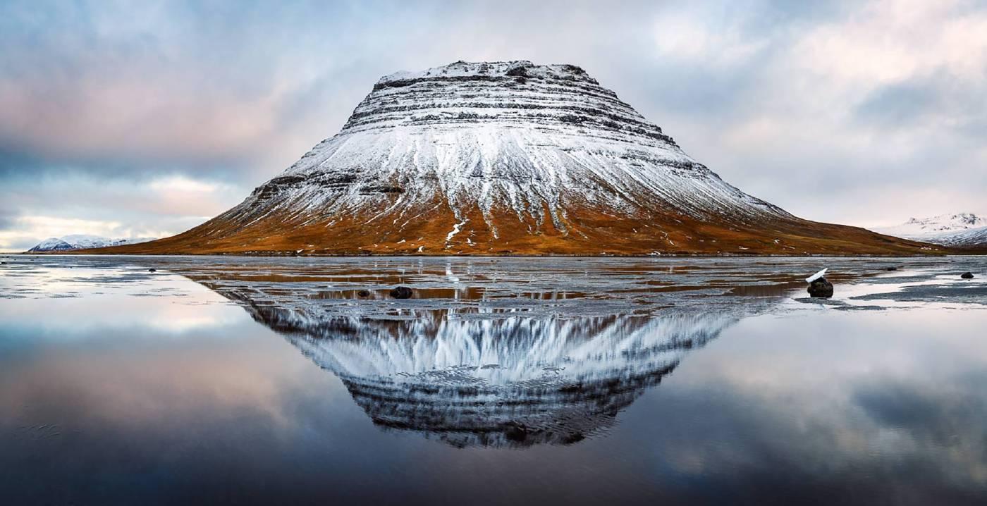 Kirkjufell (冰島教會山),105x205cm,德國哈內姆勒攝影純棉硫化鋇藝術紙,2018