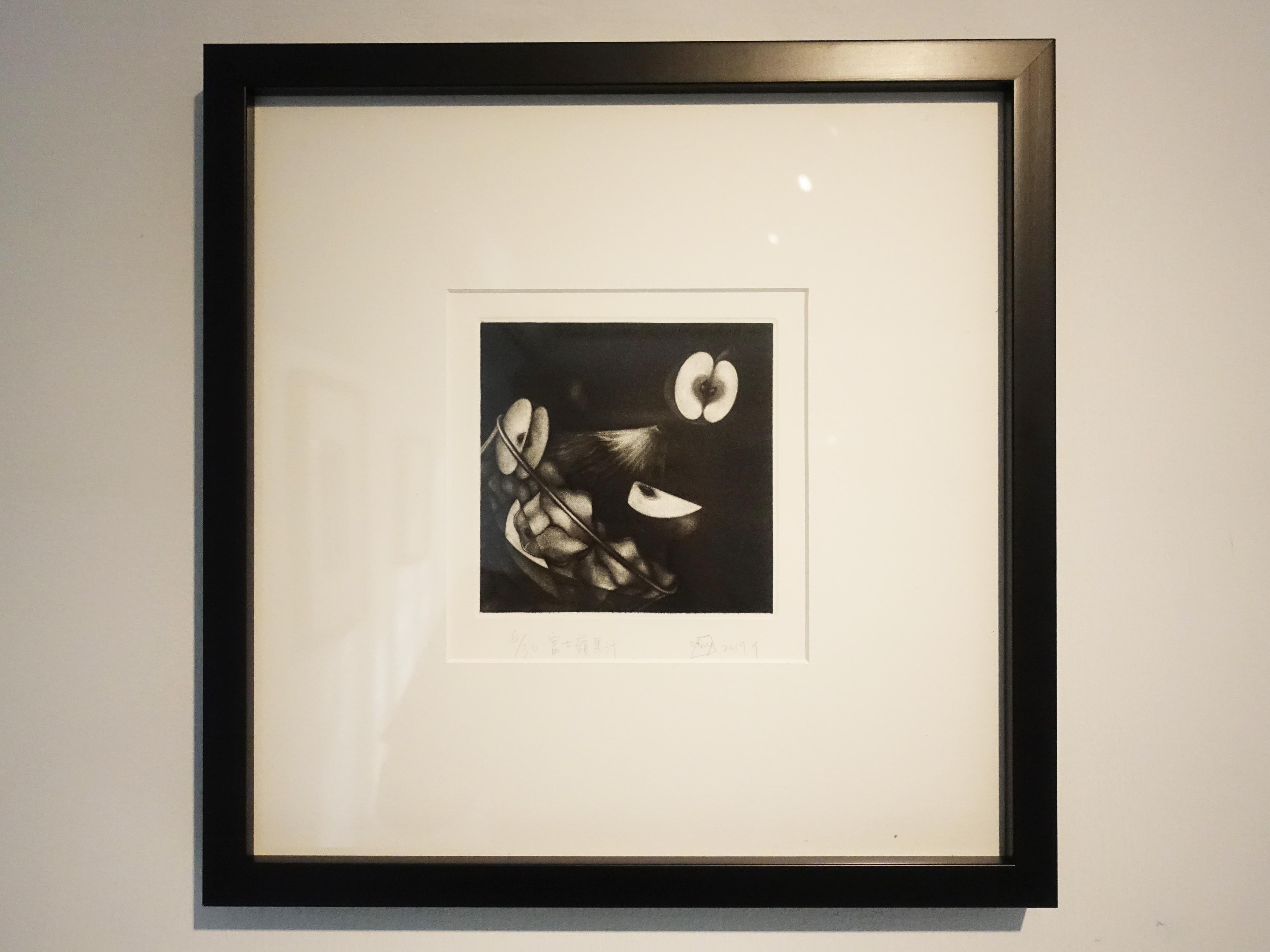 孟家安,《富士蘋果汁》,15 x 15 cm,美柔丁6/30,2019。