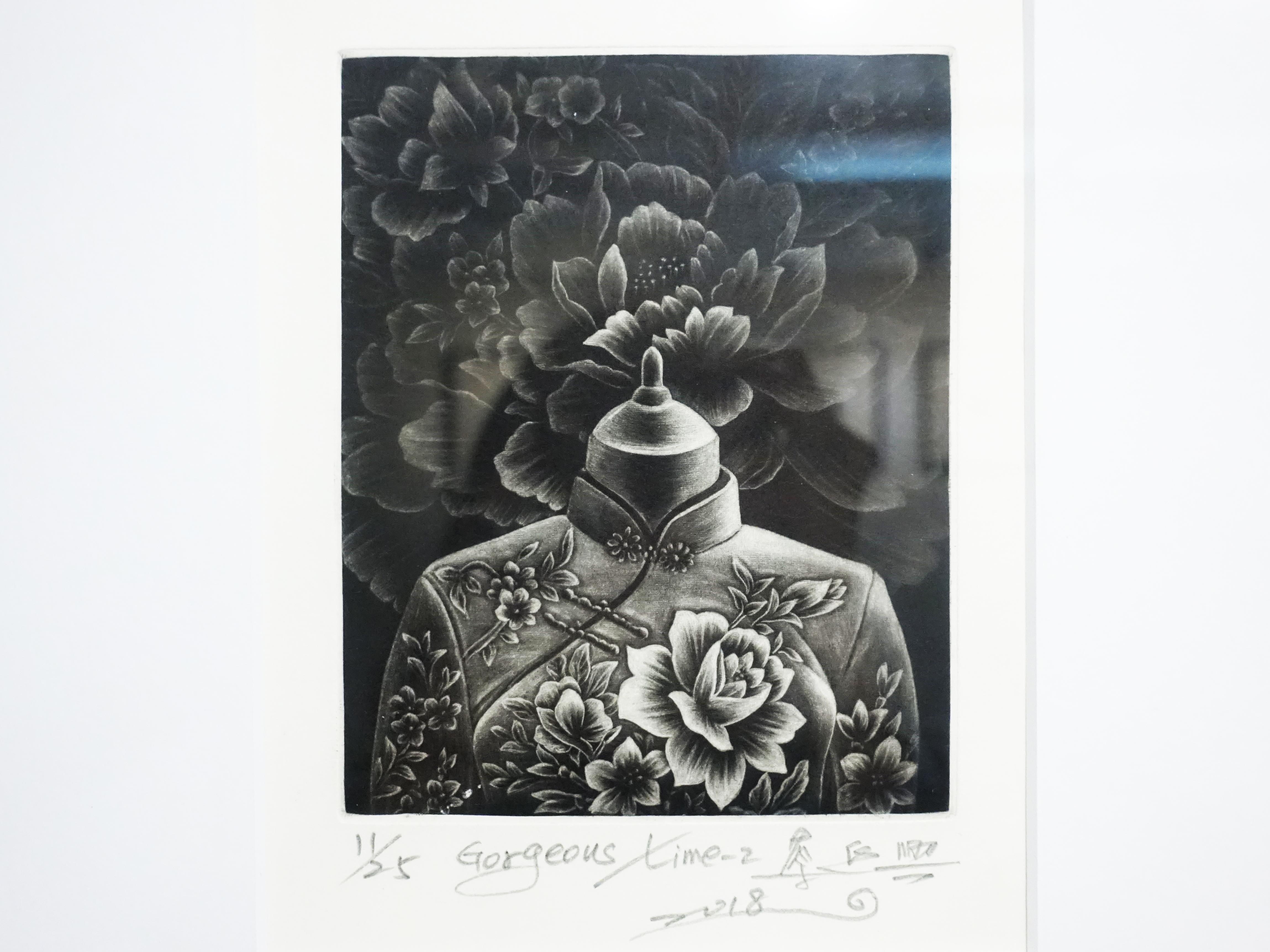 蔡進興,《Gorgeous Time - 2》細節,12 x 15 cm,美柔丁11/25,2018。