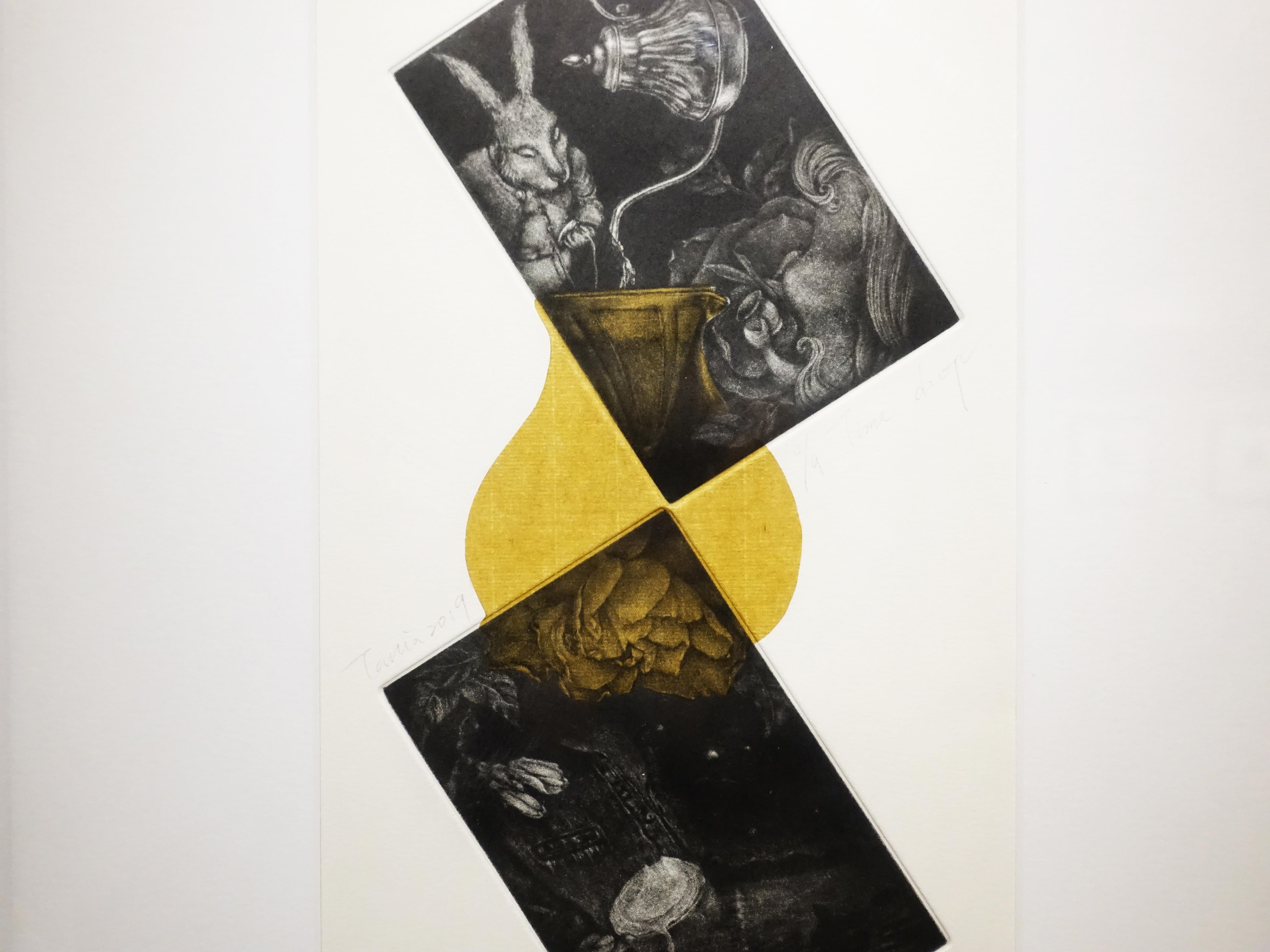 周姲醇,《Time Drop》細節,17 x 35 cm,美柔丁4/9,2019。