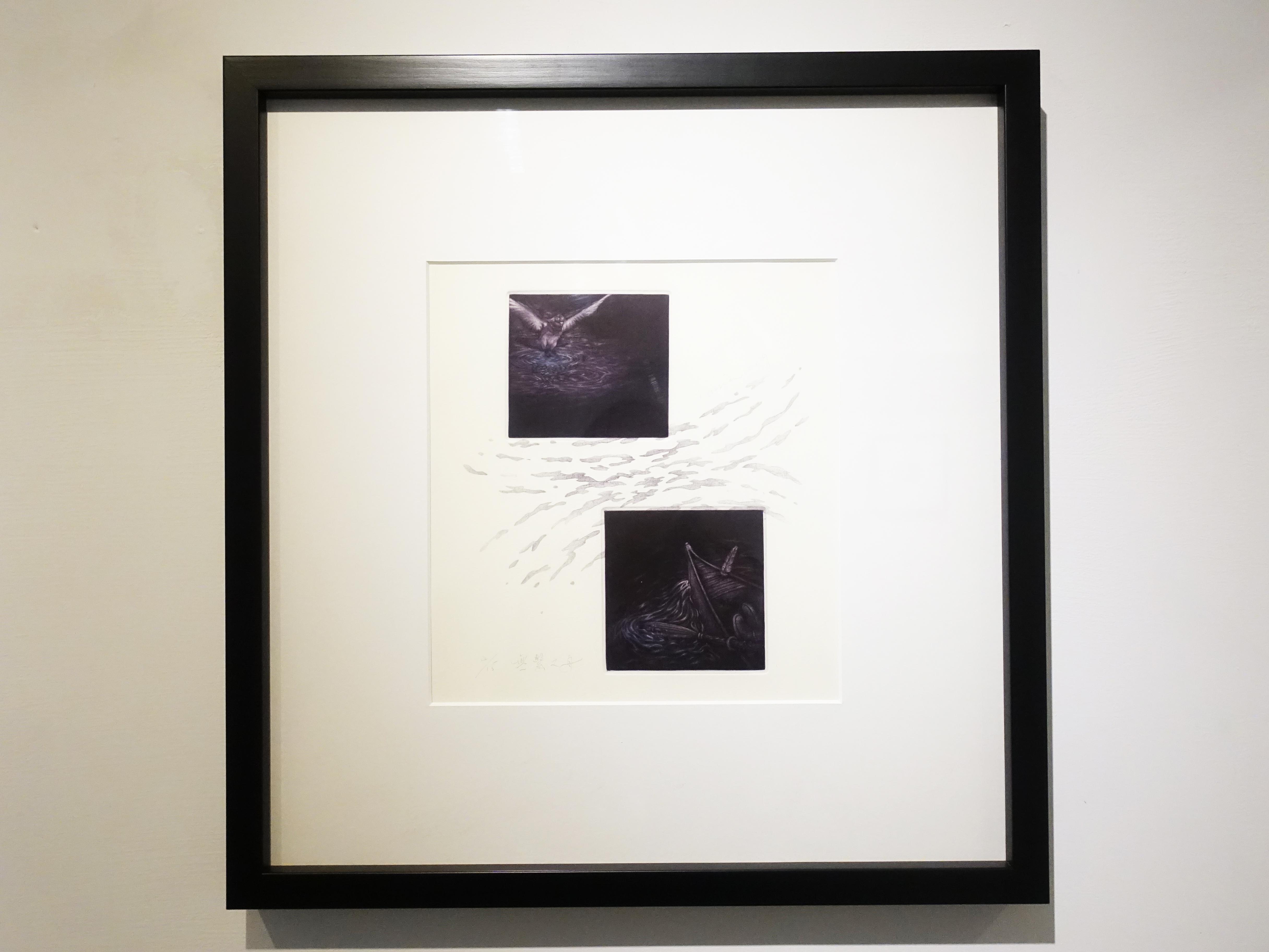 周姲醇,《無繫之舟》,20.5 x 22.5 cm,美柔丁4/15,2019。