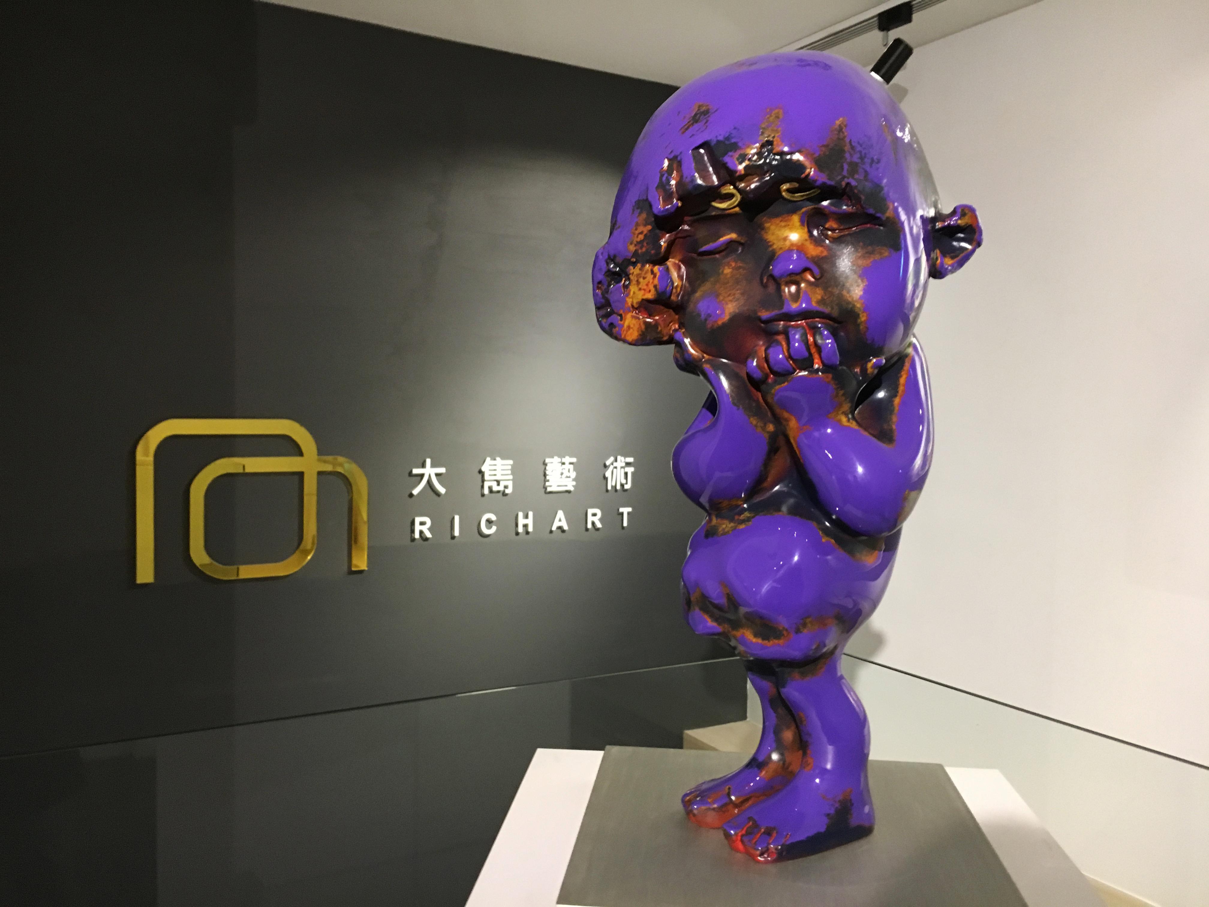 蔡尉成,《深深》,27 x 24 x 60 cm,青銅,2019。