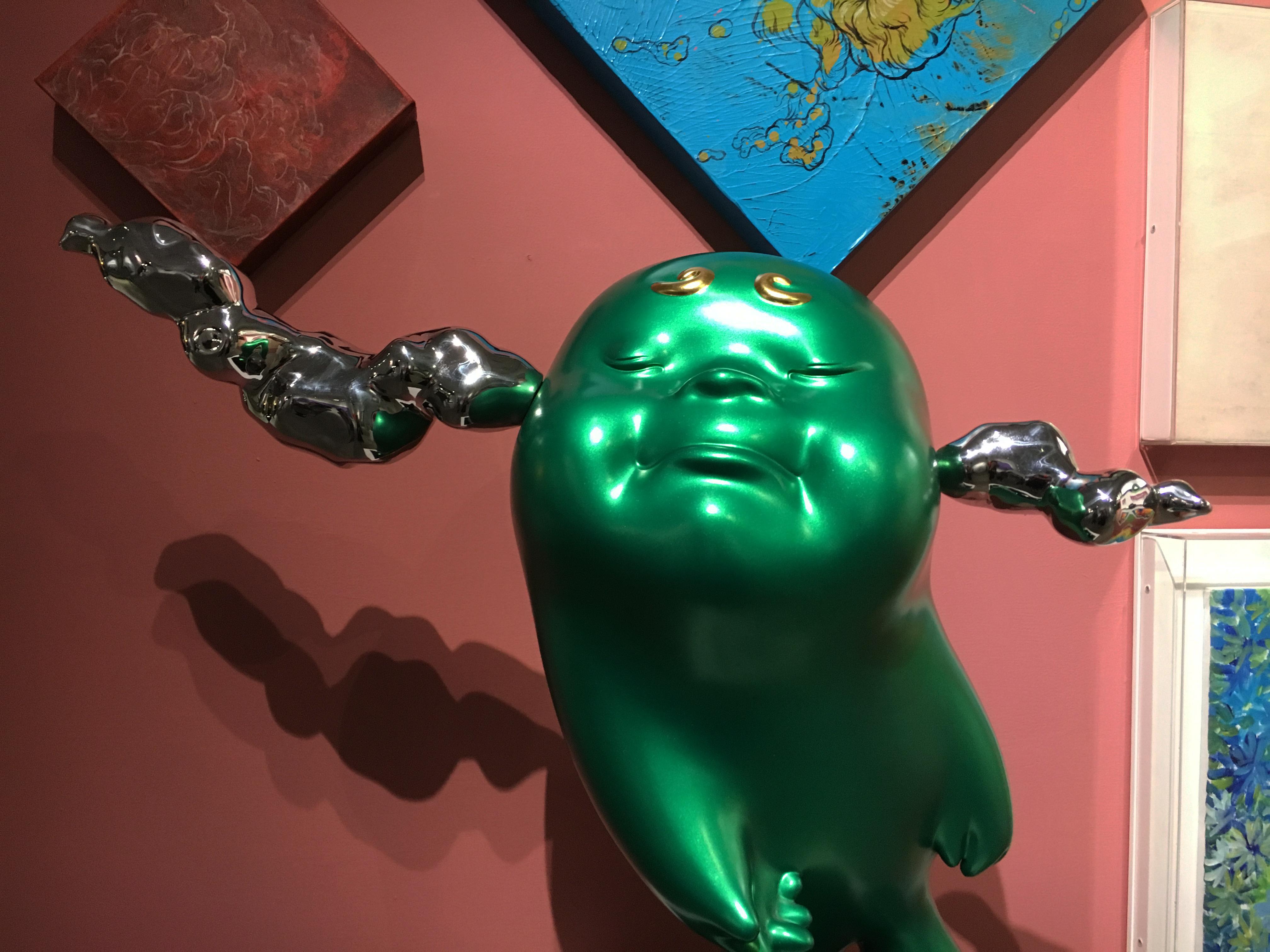大雋藝術展出藝術家蔡尉成雕塑作品。