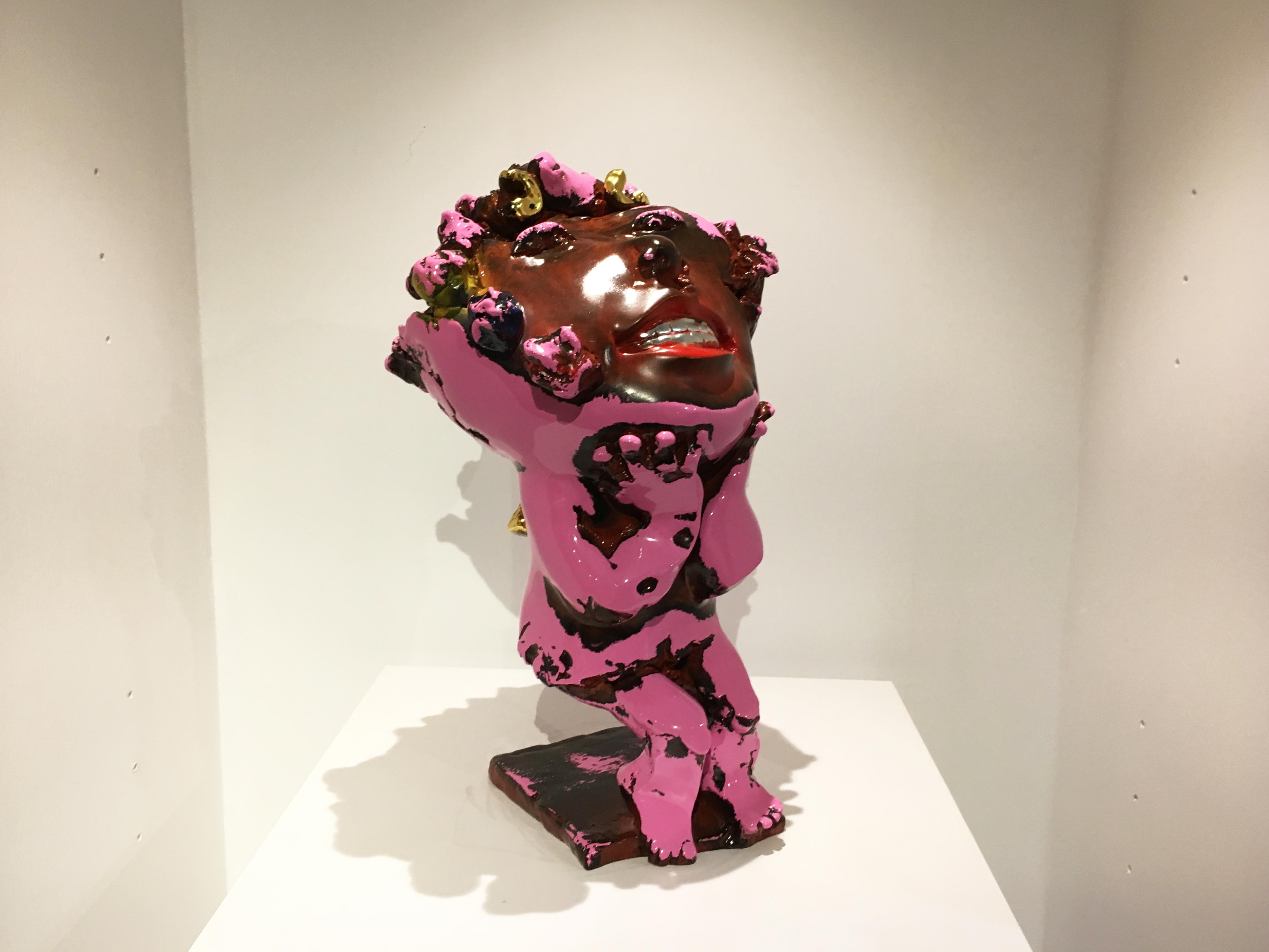 蔡尉成,《花香》,34 x 32 x 57 cm,青銅,2018。