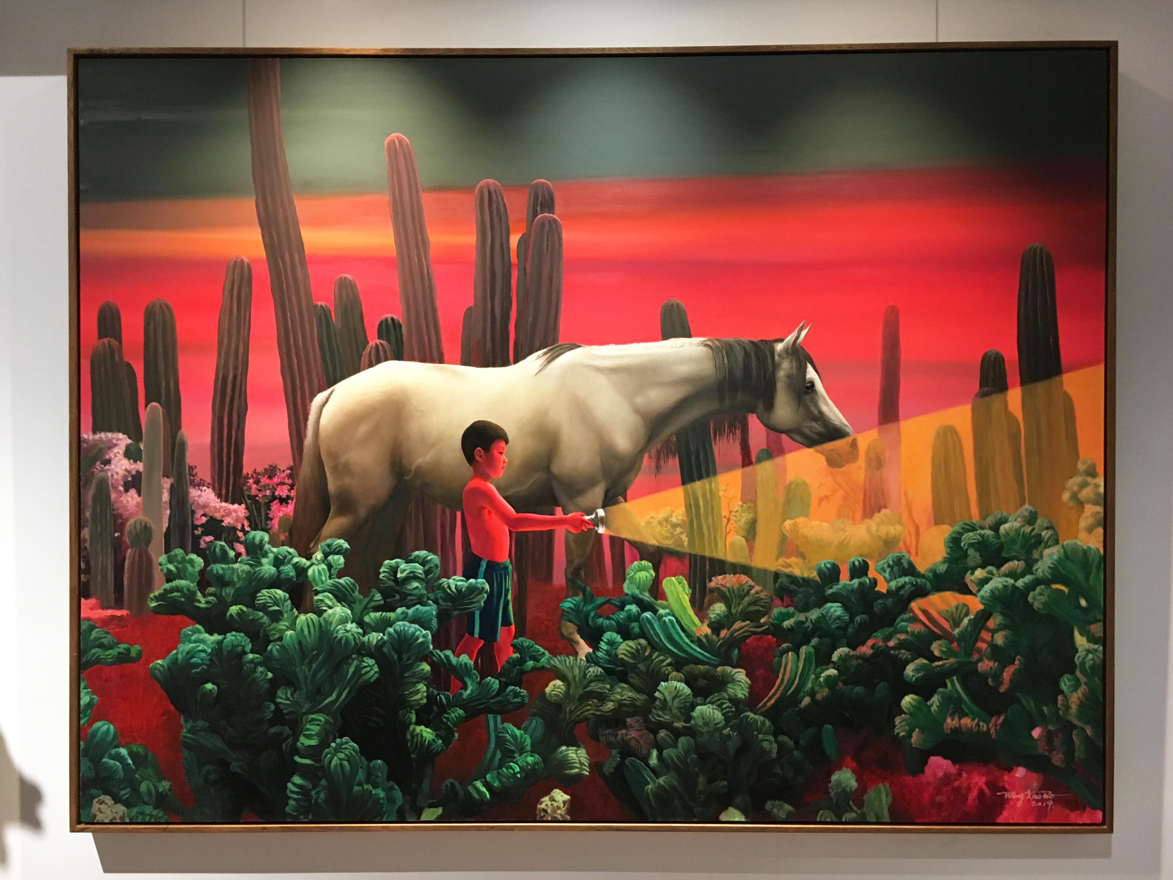 王曉勃,《尋找光明No.55》,150 x 200 cm,布面油畫,2018。