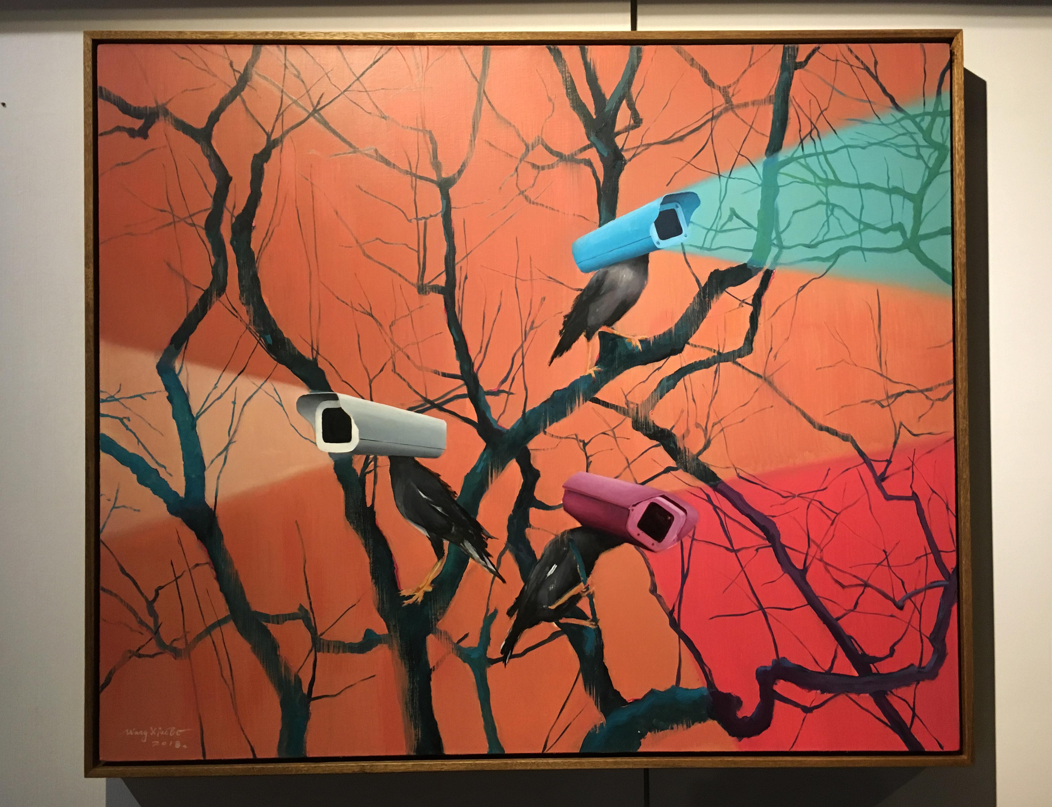 王曉勃,《目光No.3》,120 x 100 cm,布面油畫,2018。