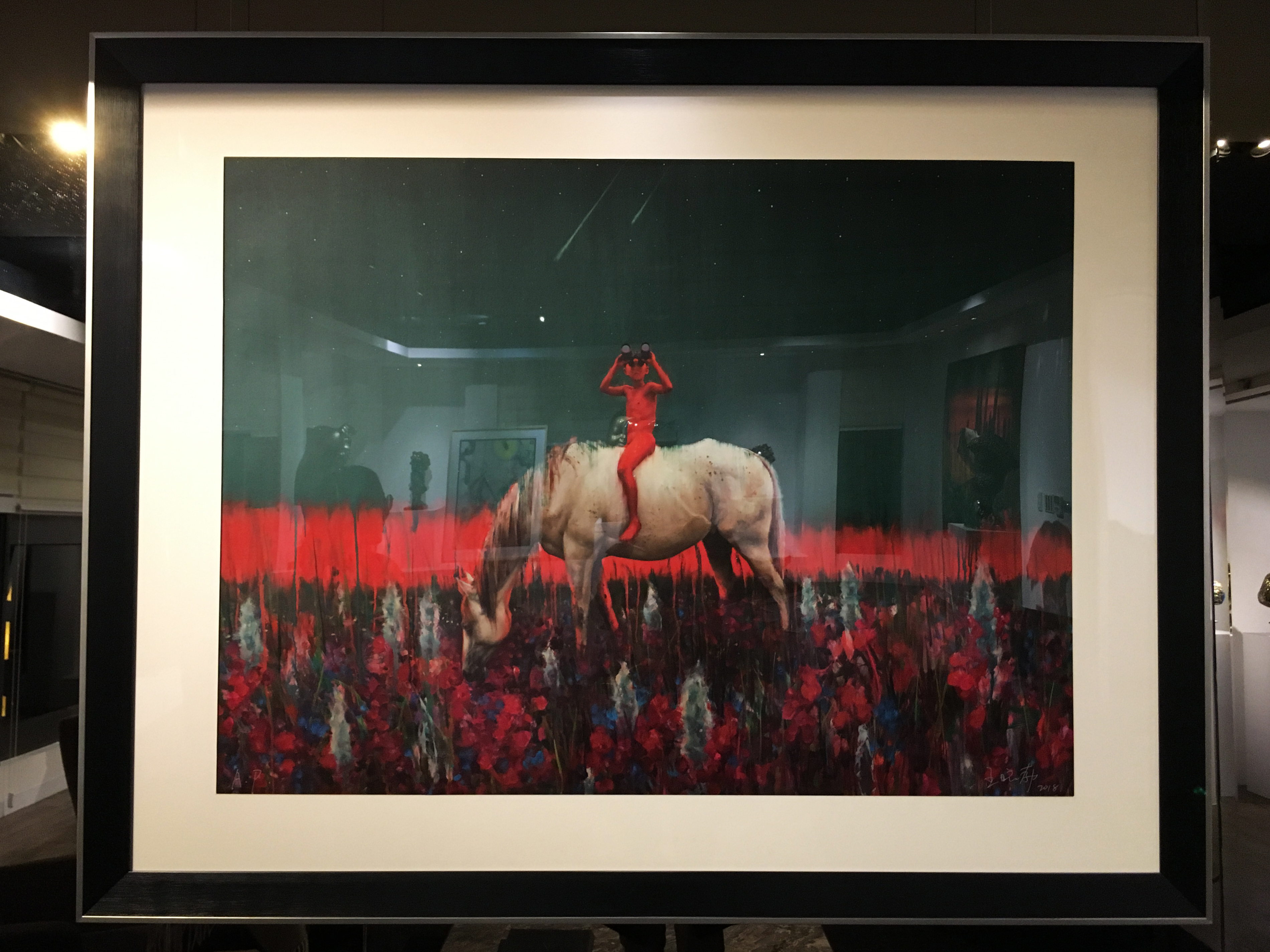 王曉勃,《尋找光明No.1》,150 x 200 cm,布面油畫,2018。