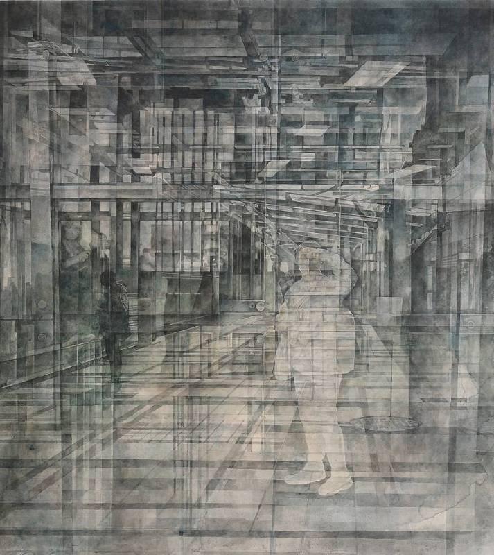 呂如笙 Lu, Lu-Sheng - 瞬息之間 (2019 水墨、紙本 90 × 100cm)(心動藝術空間 ART INFLUENCE)