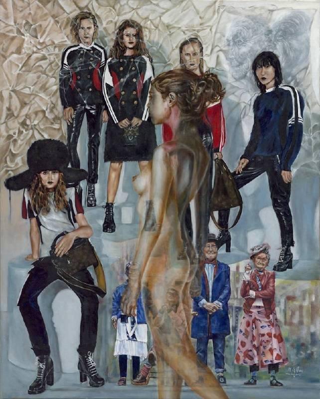 張文菁 Chang, Wen-Ching - 浮生.浮身(2018 油彩、畫布 162 x 130cm)(心動藝術空間 ART INFLUENCE)