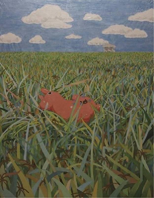 楊尉翎 Yang, Wei-Ling - 失落樂園 The Paradise Lost(2019 膠彩、紙本 116.7 x 91cm)(心動藝術空間 ART INFLUENCE)